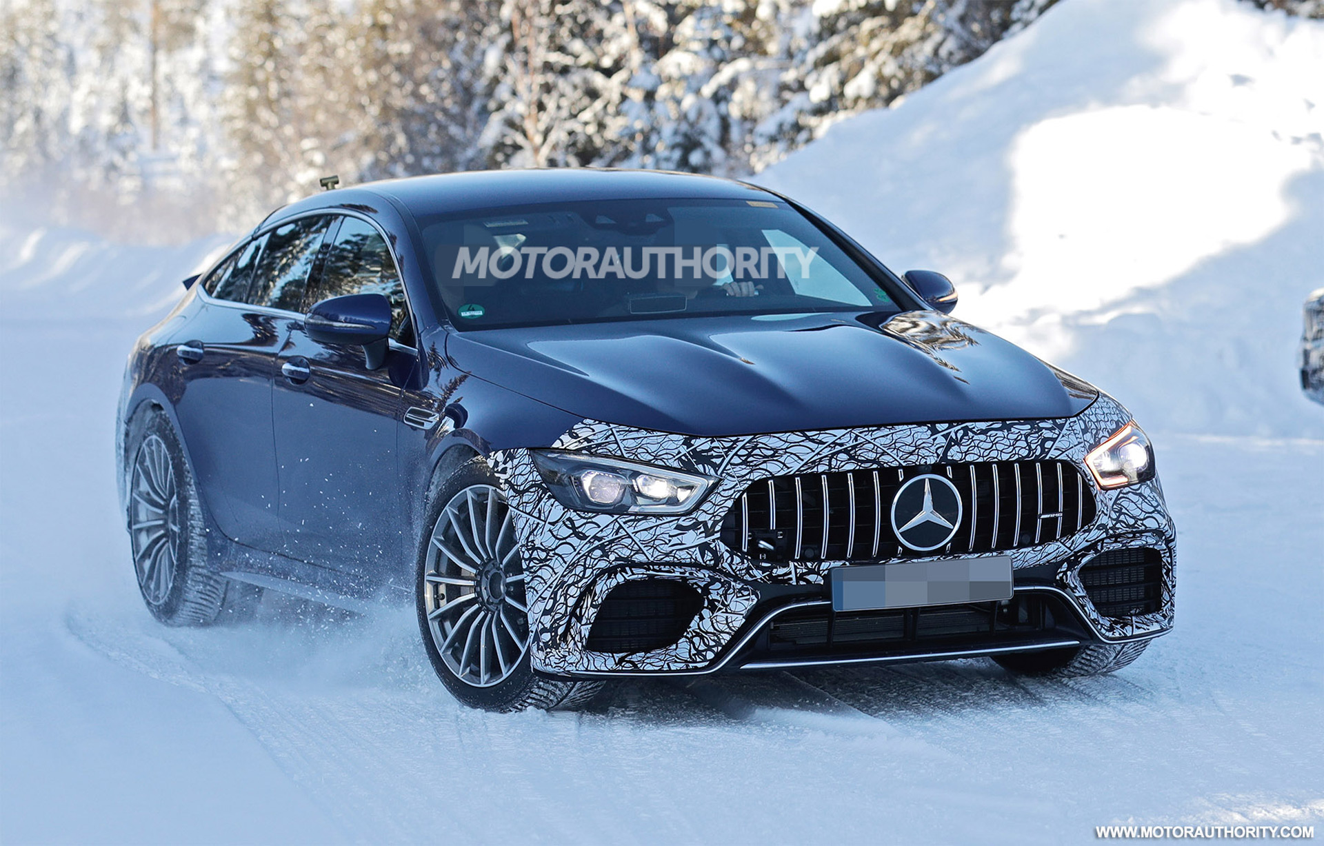 2021 Mercedes-AMG GT 73 EQ Performance 4-Door Coupe spy shots