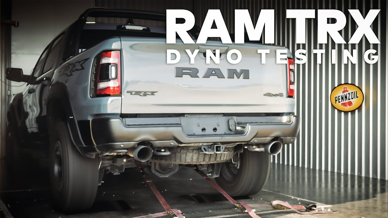 2021 Ram 1500 TRX strapped to dyno, puts out 583 hp at the rear wheels