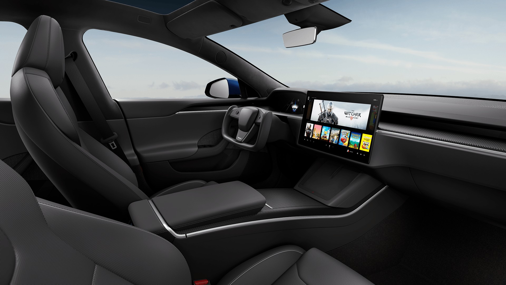 Tesla delivers first Model S Plaid models without a steering wheel