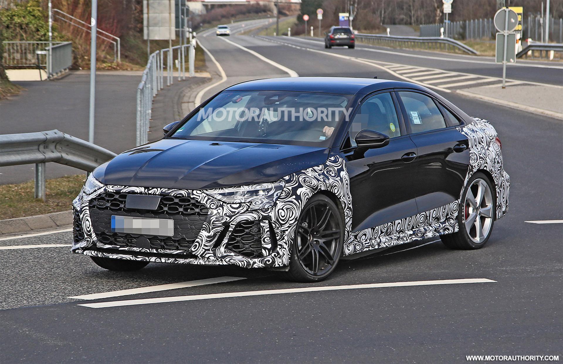 2022 Audi RS 3 spy shots: 400-plus-hp compact sedan coming soon