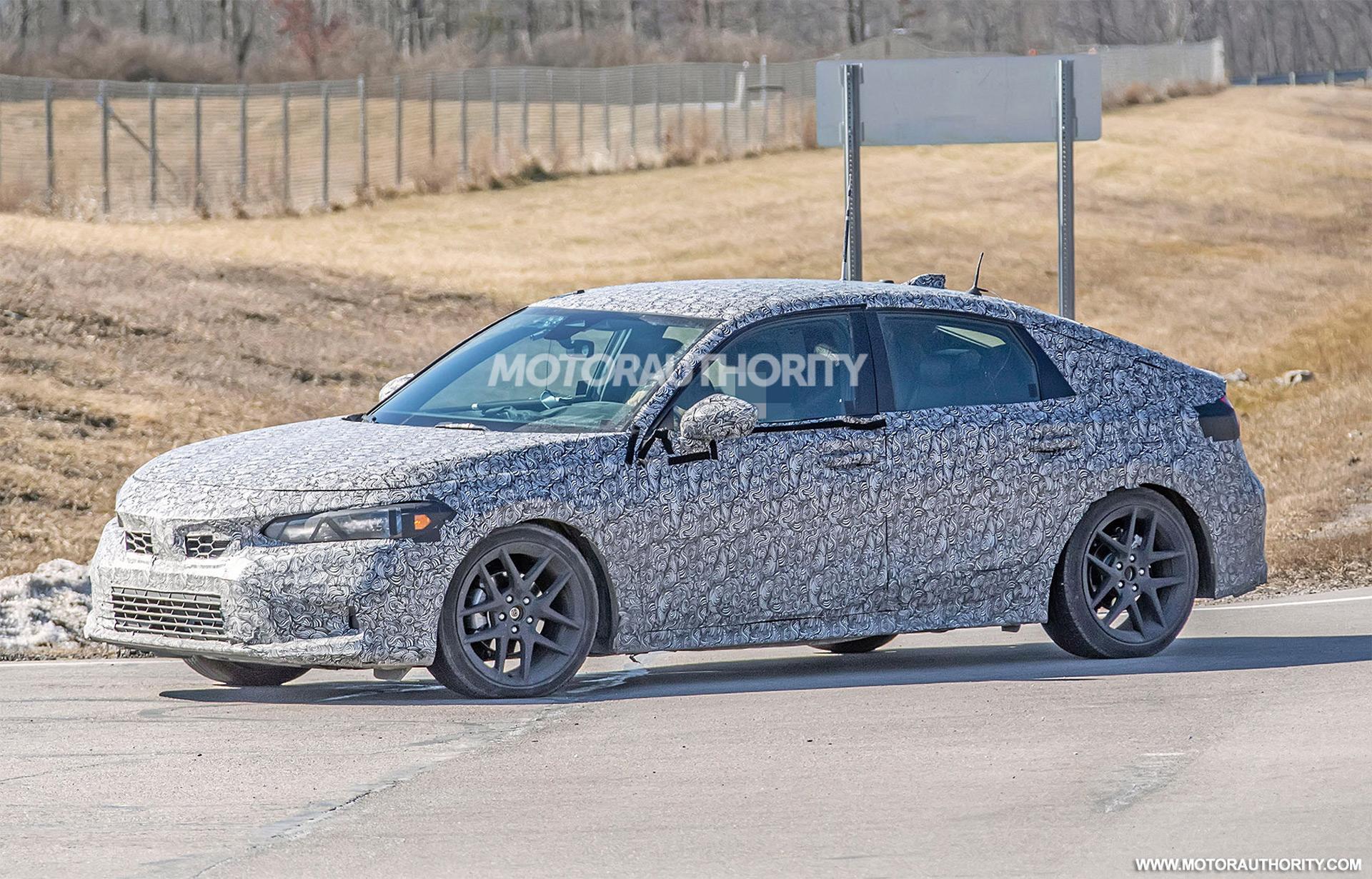 2022 Honda Civic Hatchback spy shots: More mature compact hatch on the way