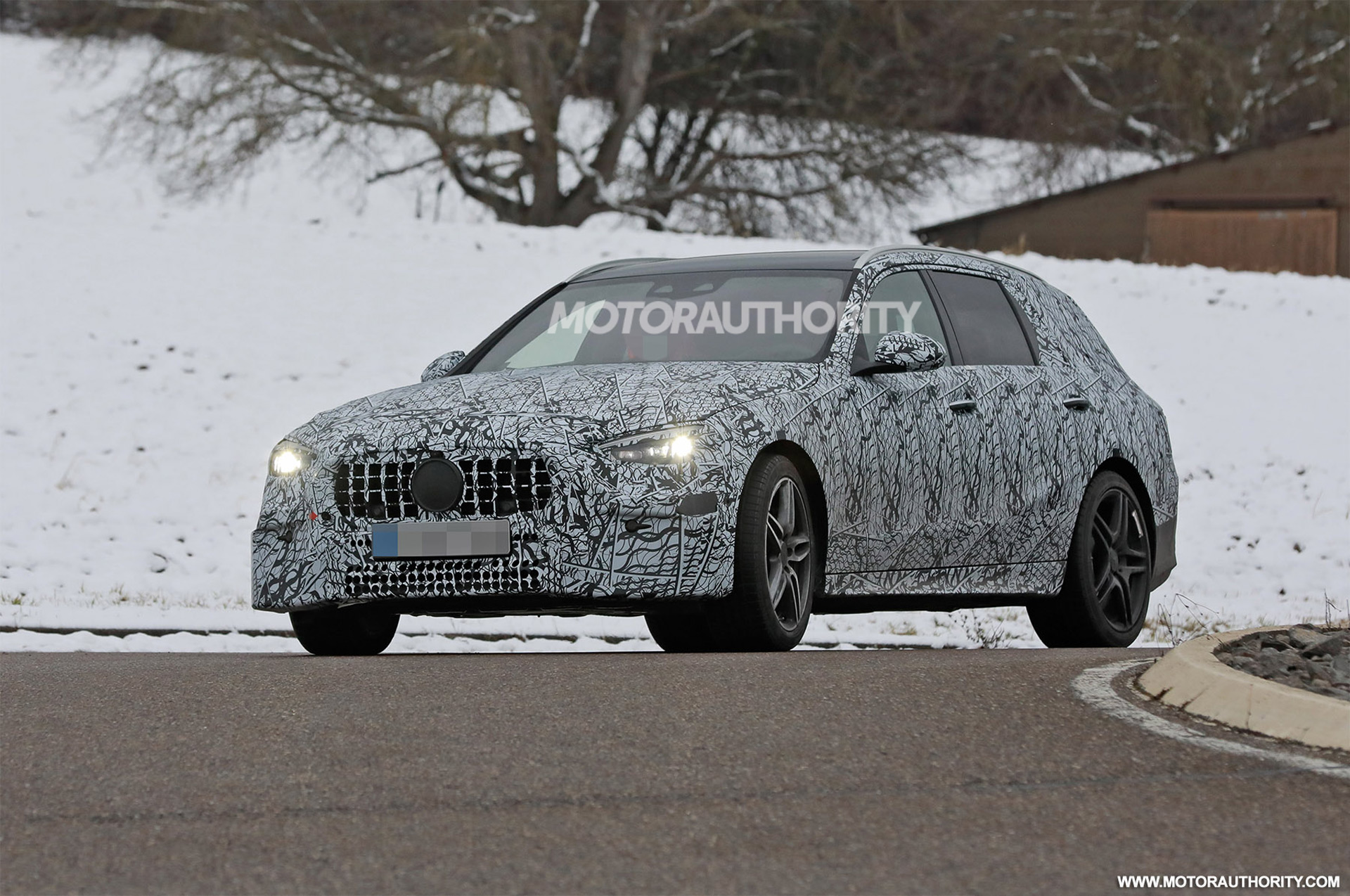 2022 Mercedes-Benz AMG C53 Wagon spy shots: Sporty wagon coming but not to US