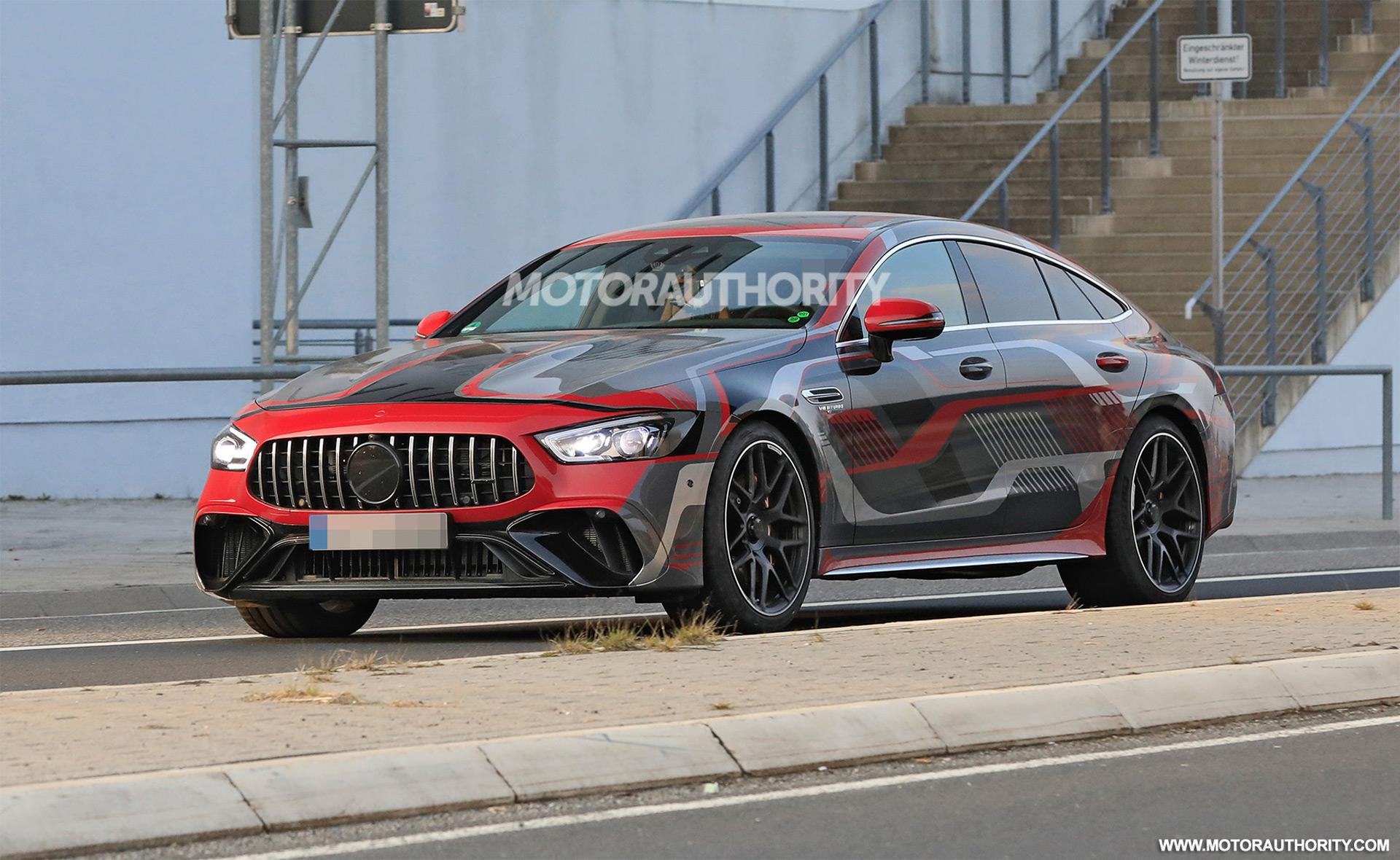 2022 Mercedes-Benz AMG GT 73e 4-Door Coupe spy shots: 800-plus-hp super hatch coming soon