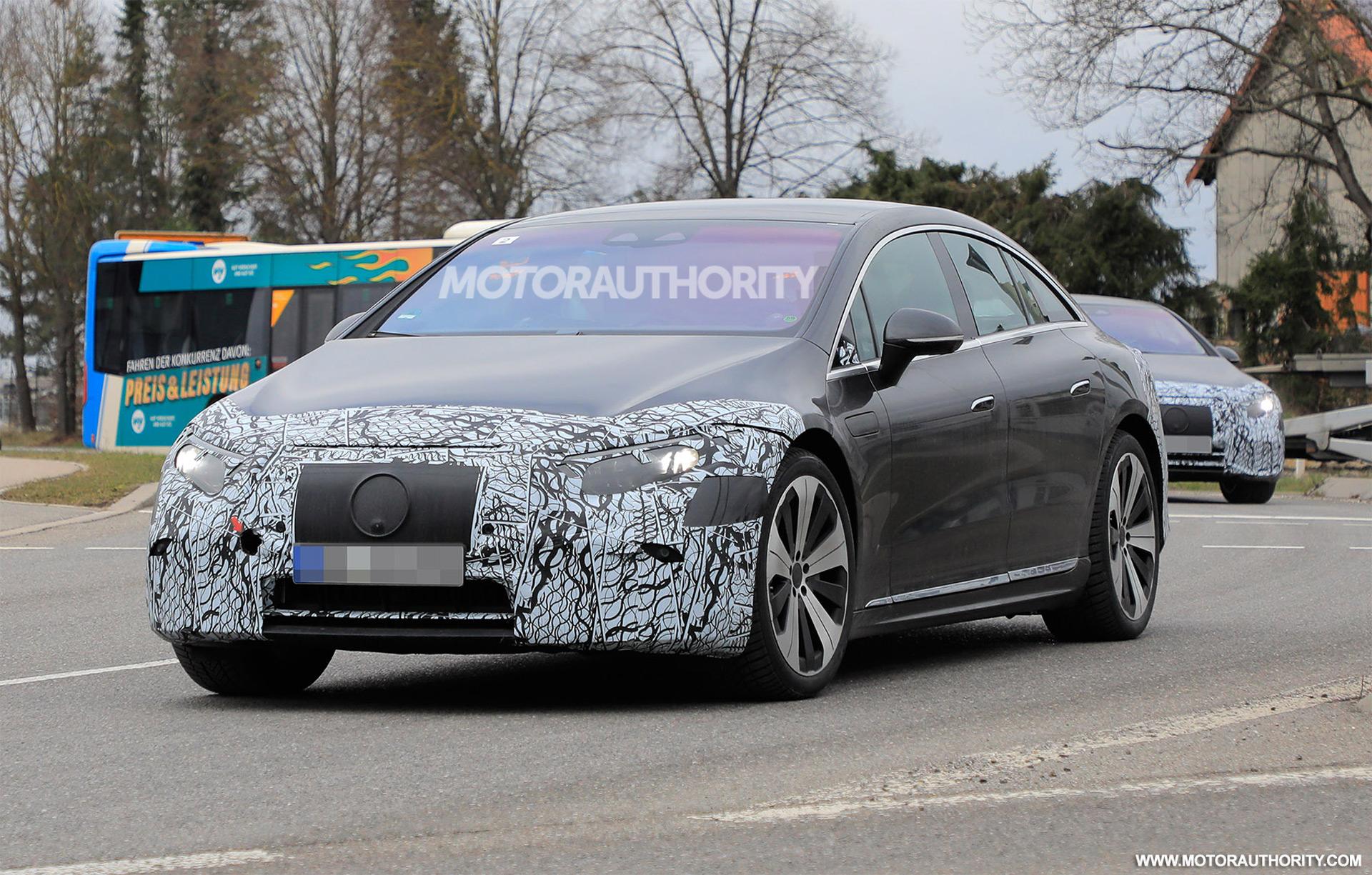 2022 Mercedes-Benz EQS spy shots: Electric sedan sheds camo ahead of Apr. 15 reveal