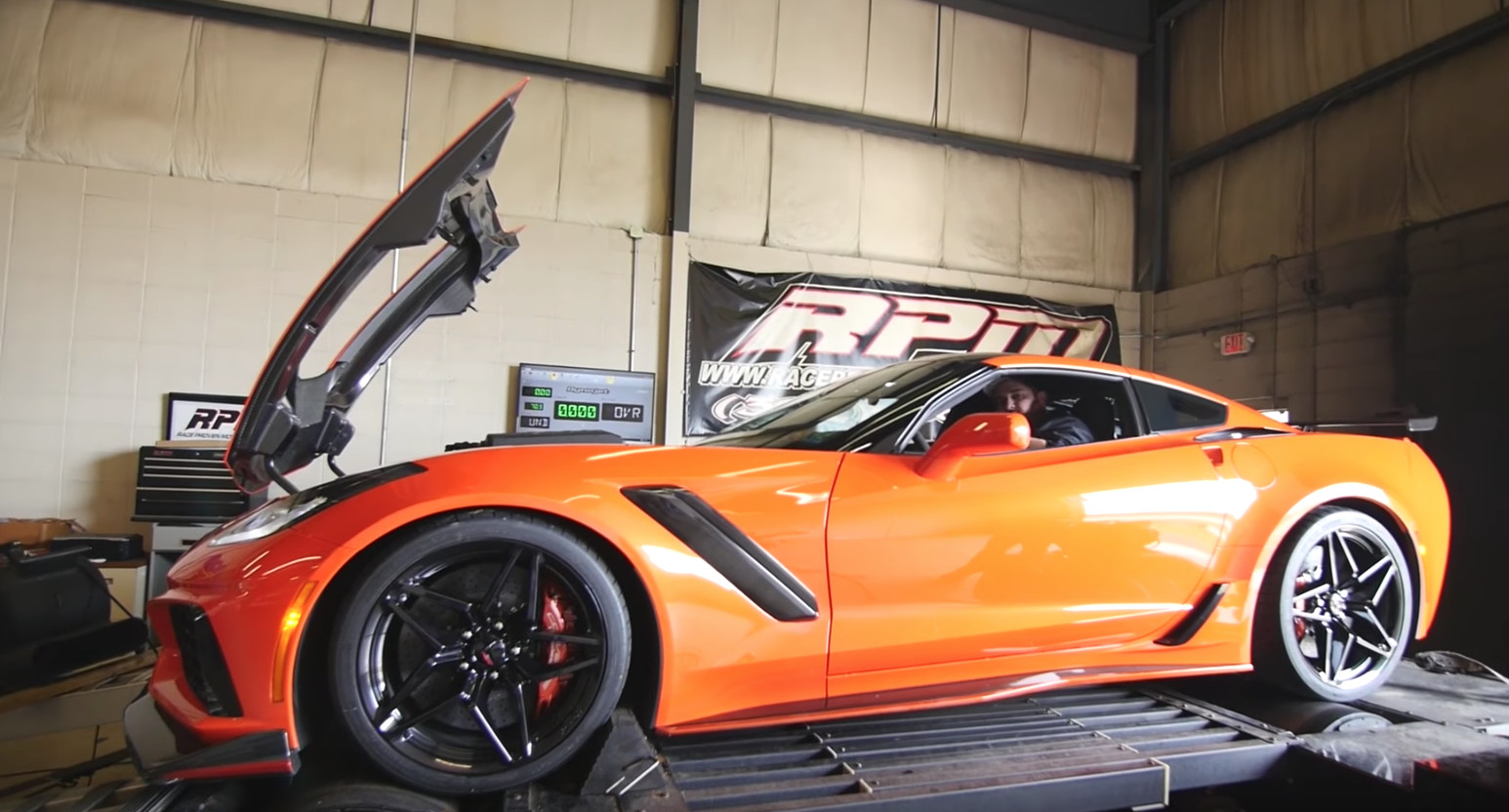 This is the first 2019 Chevy Corvette ZR1 to hit the dyno
