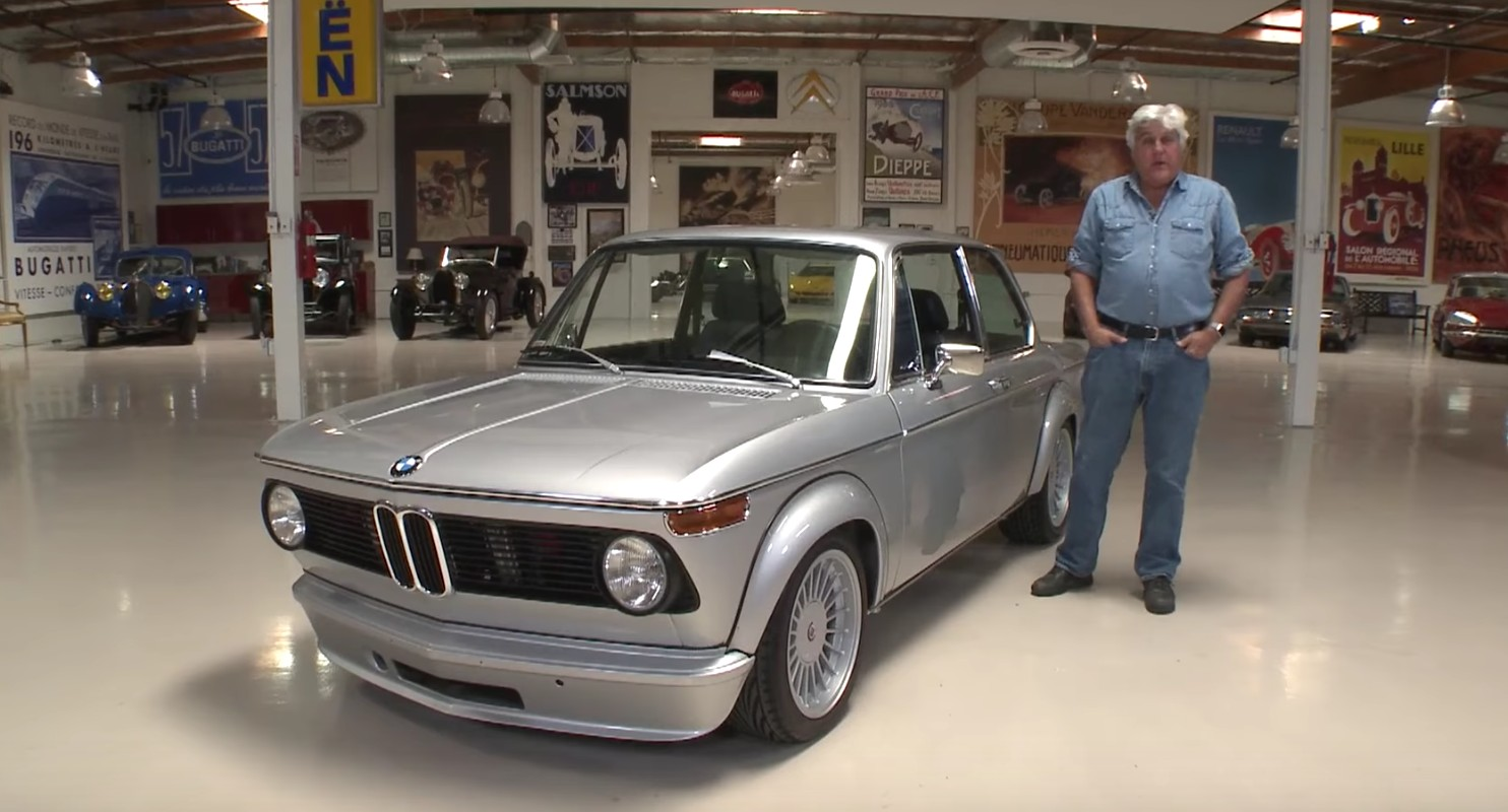 bmw 2002 restomod stops by jay leno 39 s garage. Black Bedroom Furniture Sets. Home Design Ideas