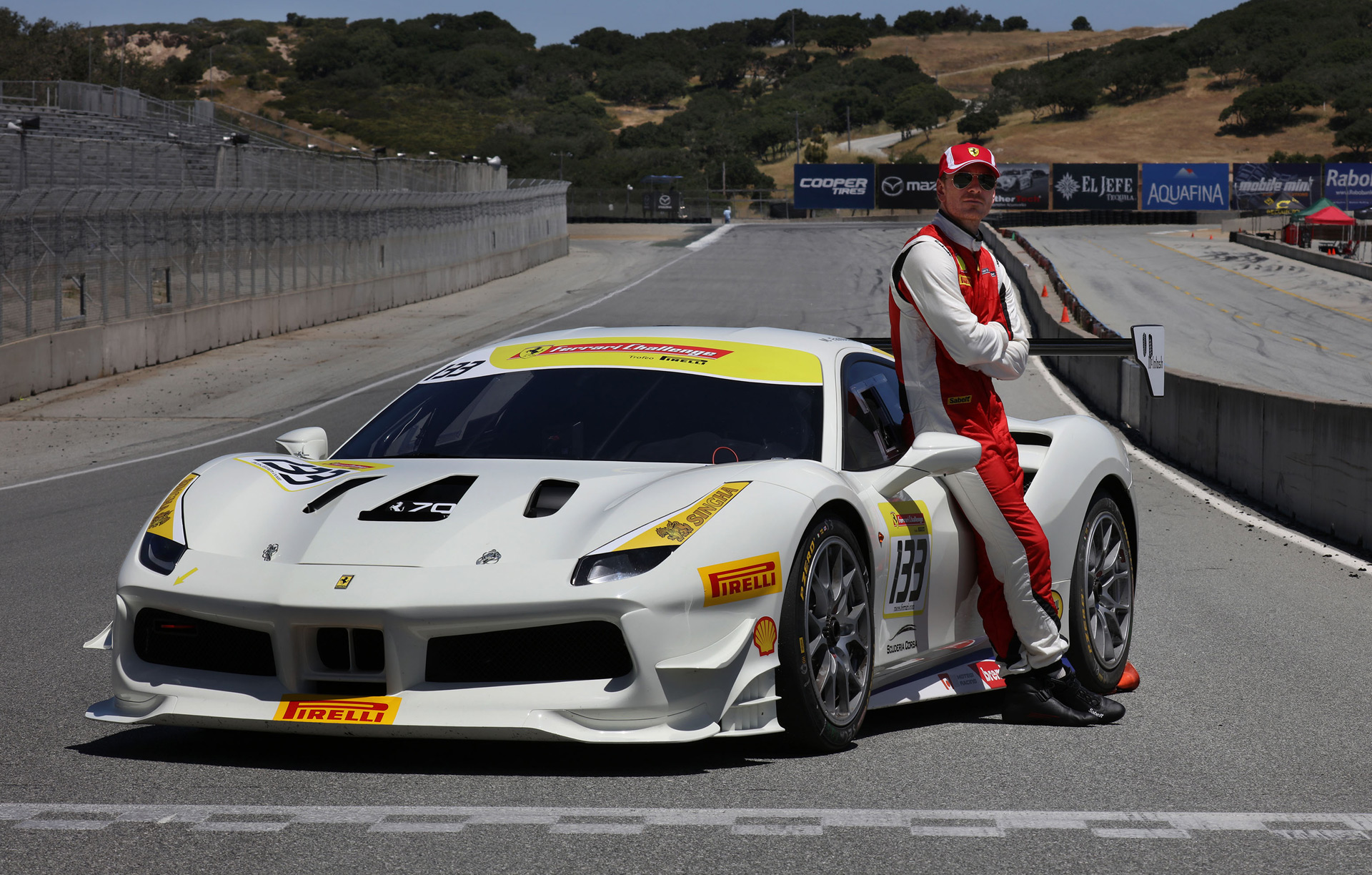 Actor Michael Fassbender Races In Ferrari Challenge One