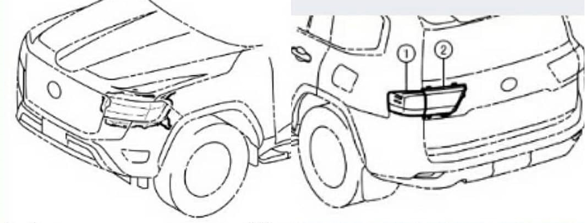 2022 Toyota Land Cruiser (300 series) alleged tech drawings may reveal design