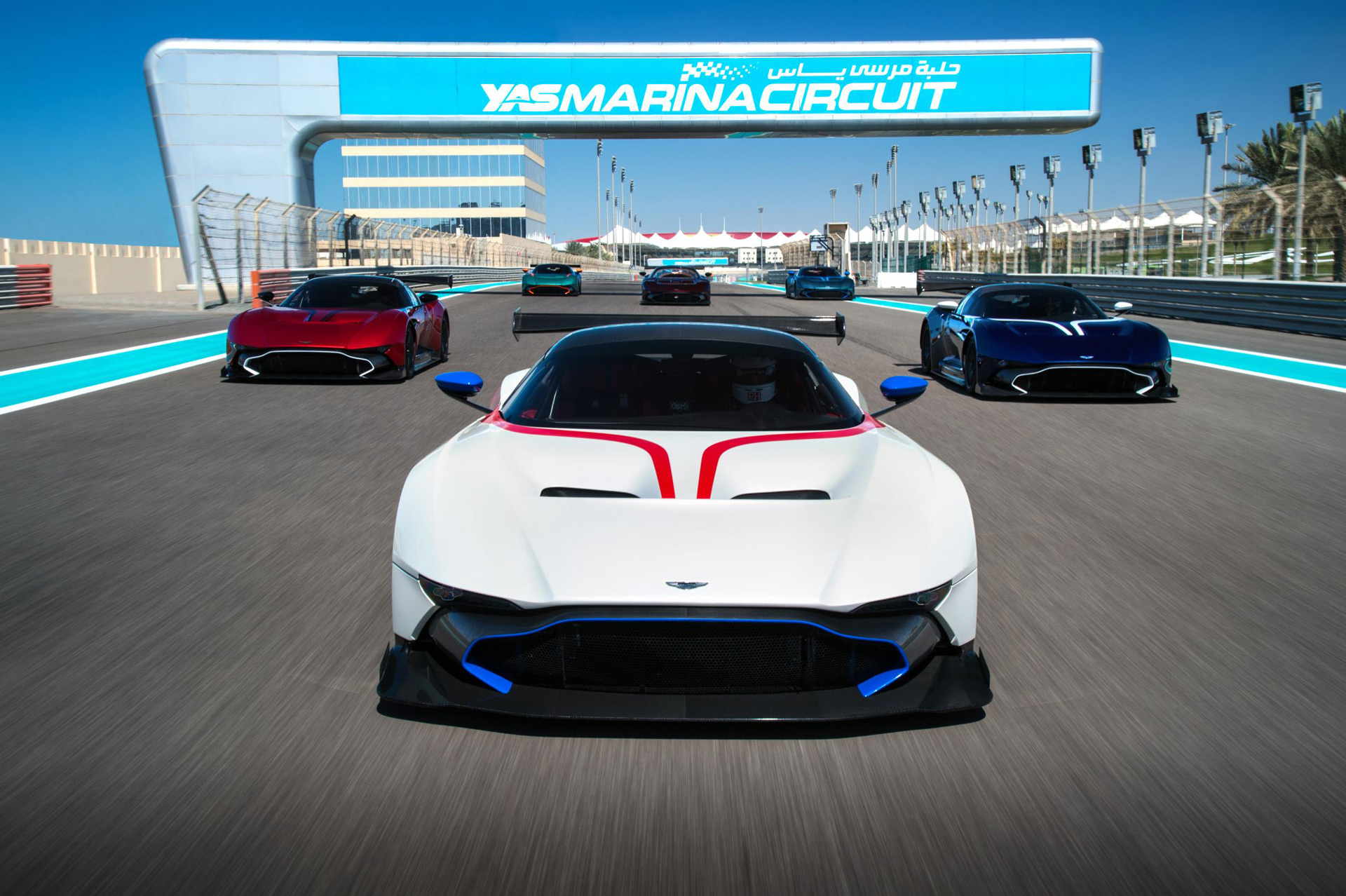 aston martin vulcan driver course gets underway in abu dhabi