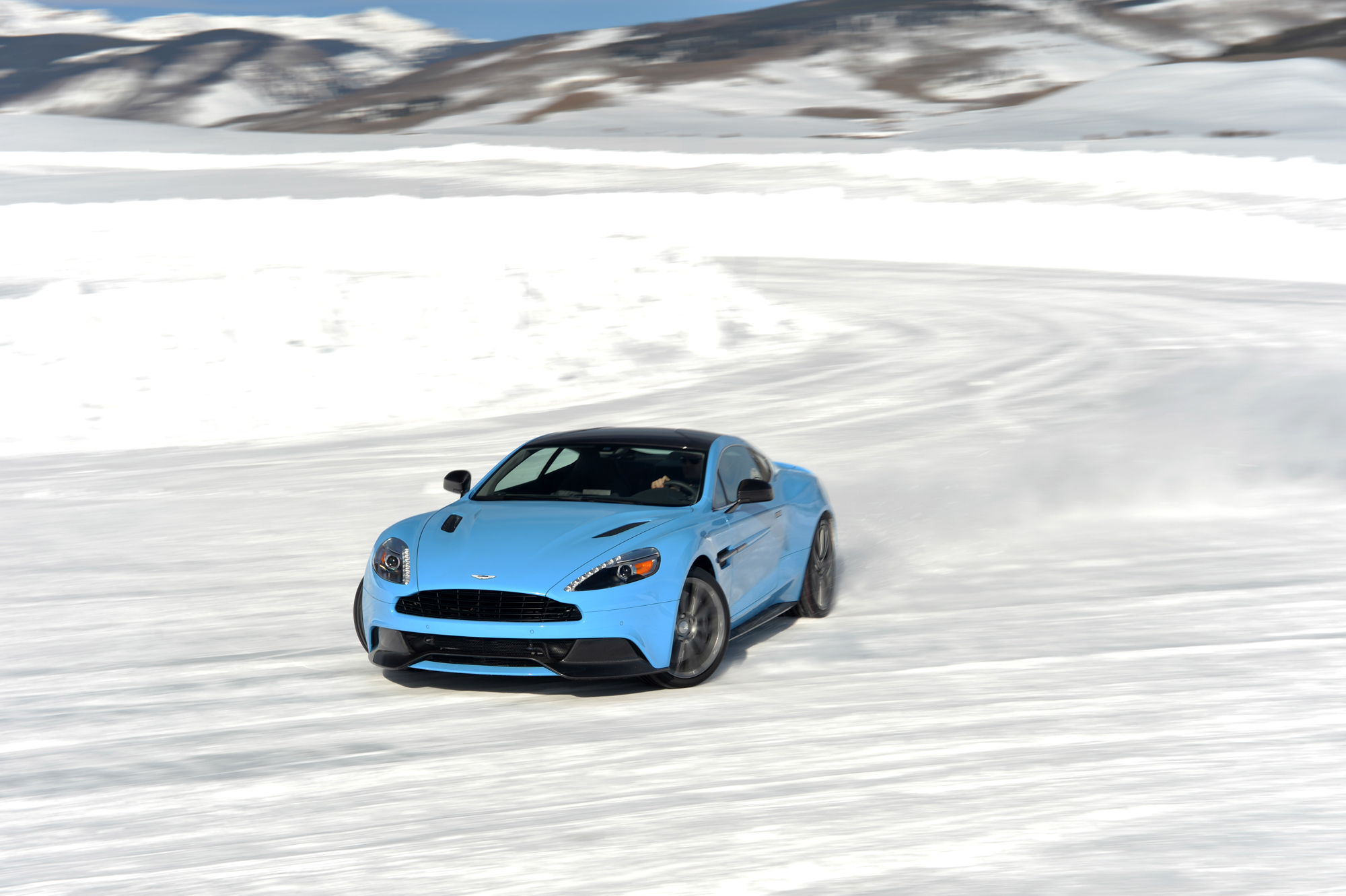Aston Martin On Ice: Potent Power Put Through Snow-Covered Paces