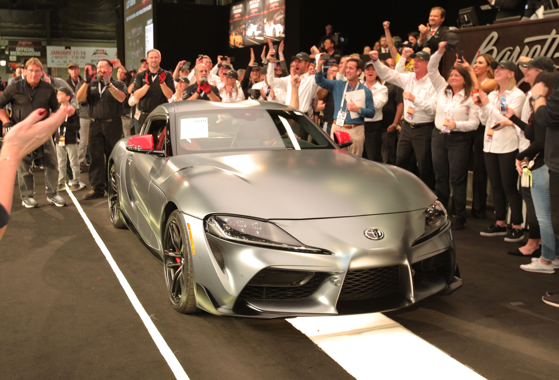 2020 Toyota Supra #001 sells for $2.1M at Barrett-Jackson auction