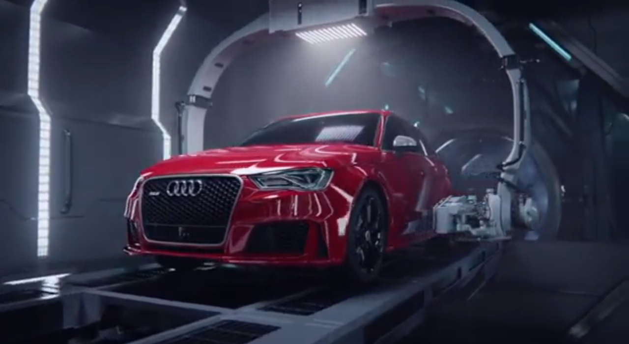 Watch The Audi R8 Give Birth To The... RS 3