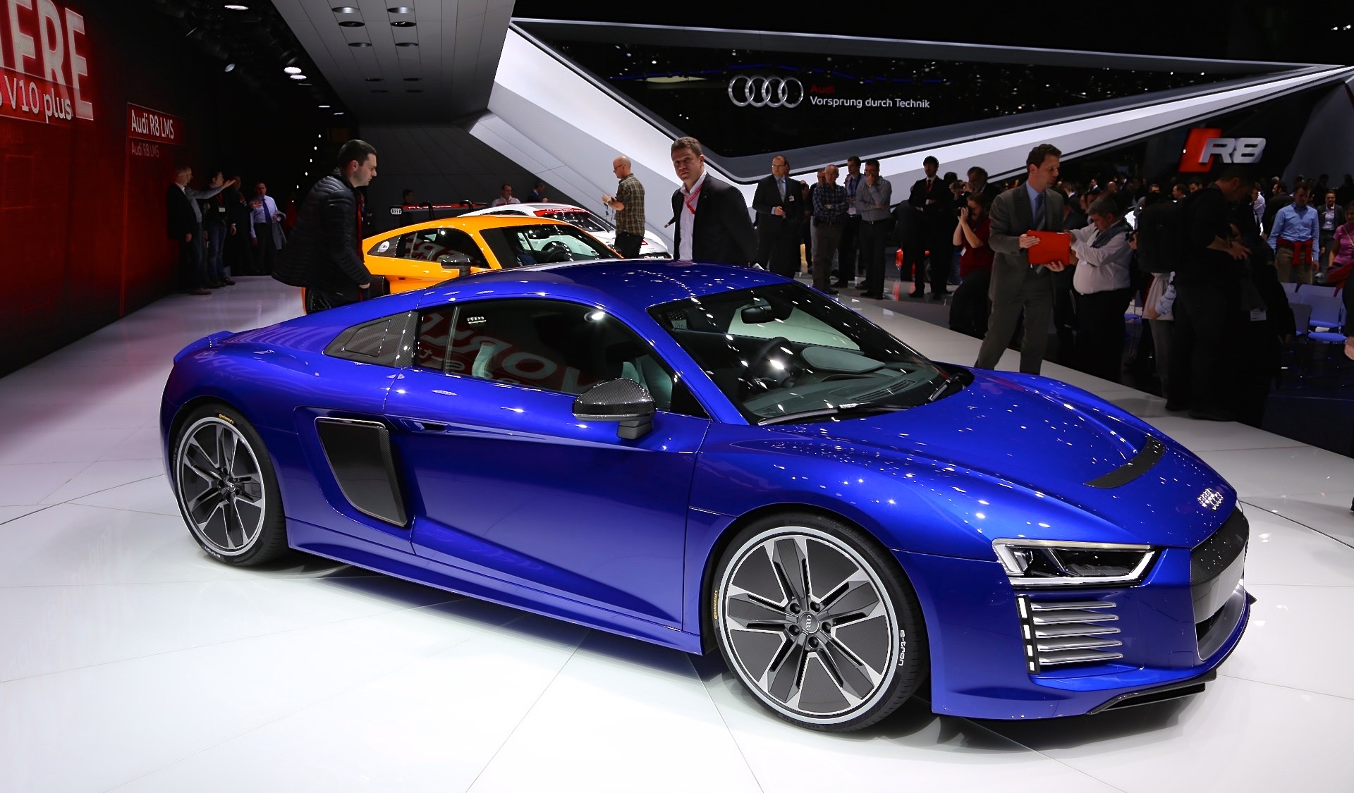 Audi R Etron AllElectric Sports Car Live Photos From Geneva - Audi r8 etron