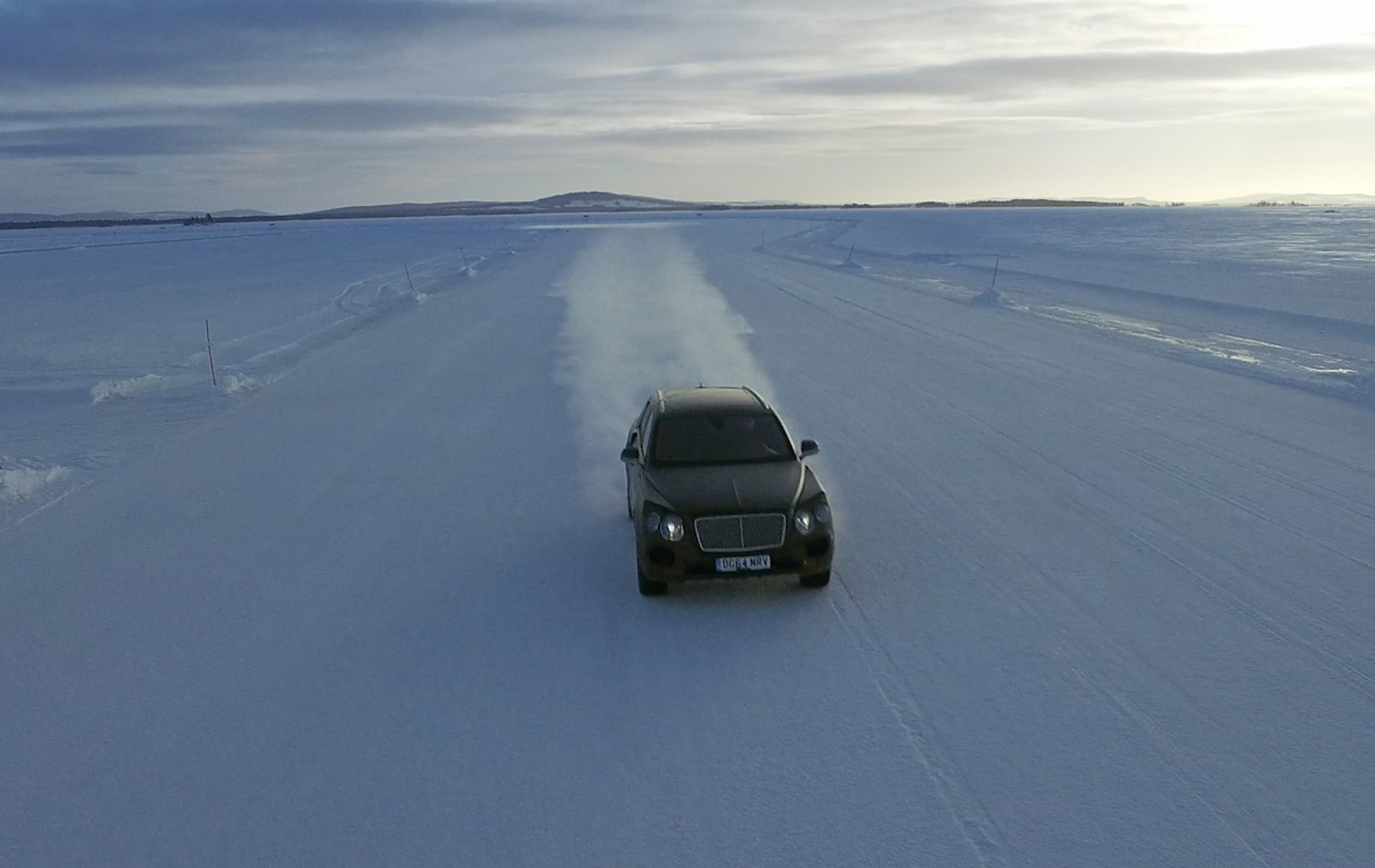 Sample Bentley's New Bentayga By Attending Automaker's Ice-Driving Event: Video