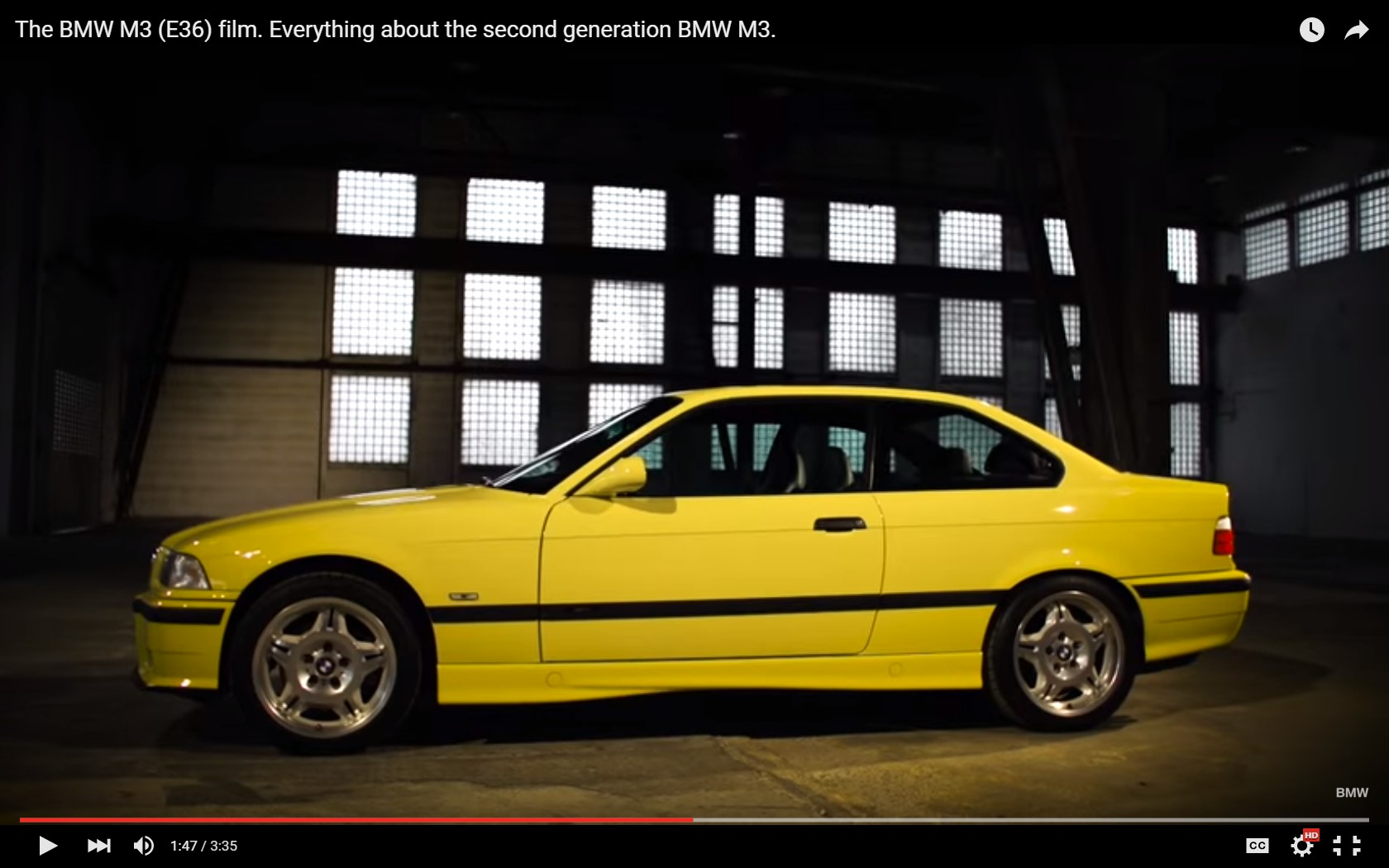 The Story Behind The Bmw E36 M3 Video