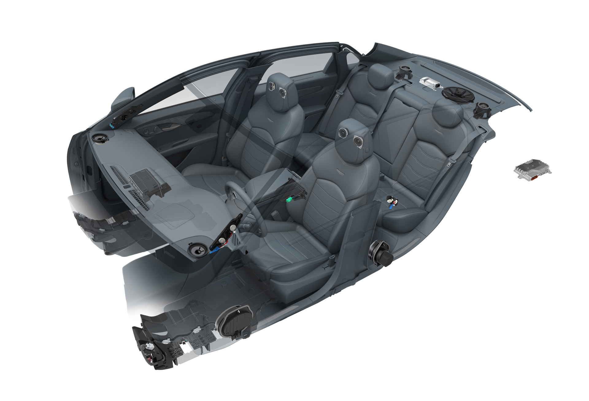 Bose Car Speakers >> First Look At 2016 Cadillac CT6 Interior, Bose Panaray Sound System