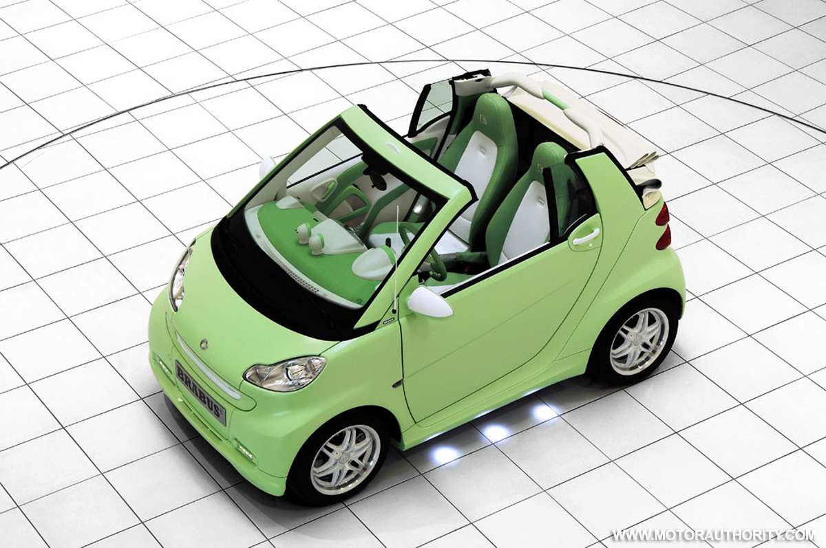 Brabus electric Smart car features electronic exhaust noise simulator