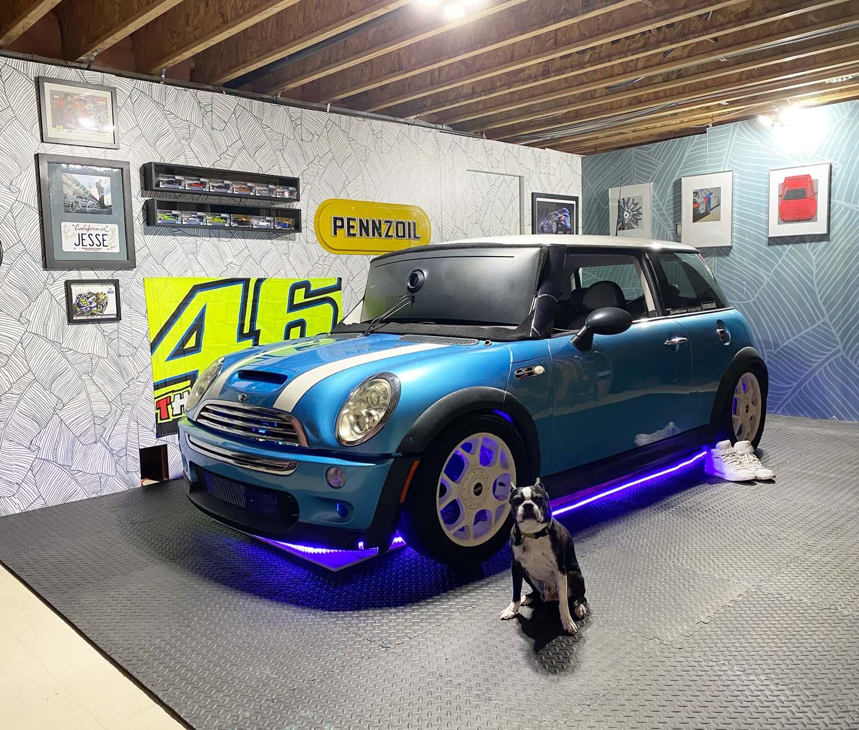 Junkyard Mini Cooper gets second life as racing simulator