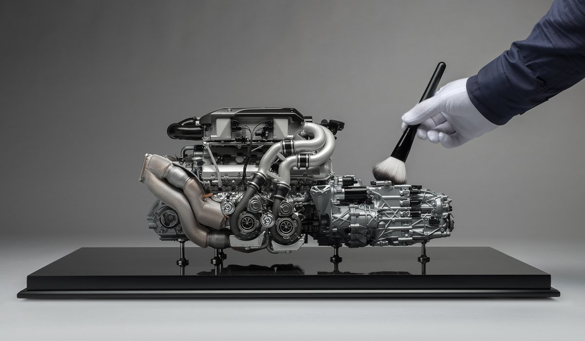 Bugatti Chiron Scale Engine And Gearbox H on Car Engine Cross Section