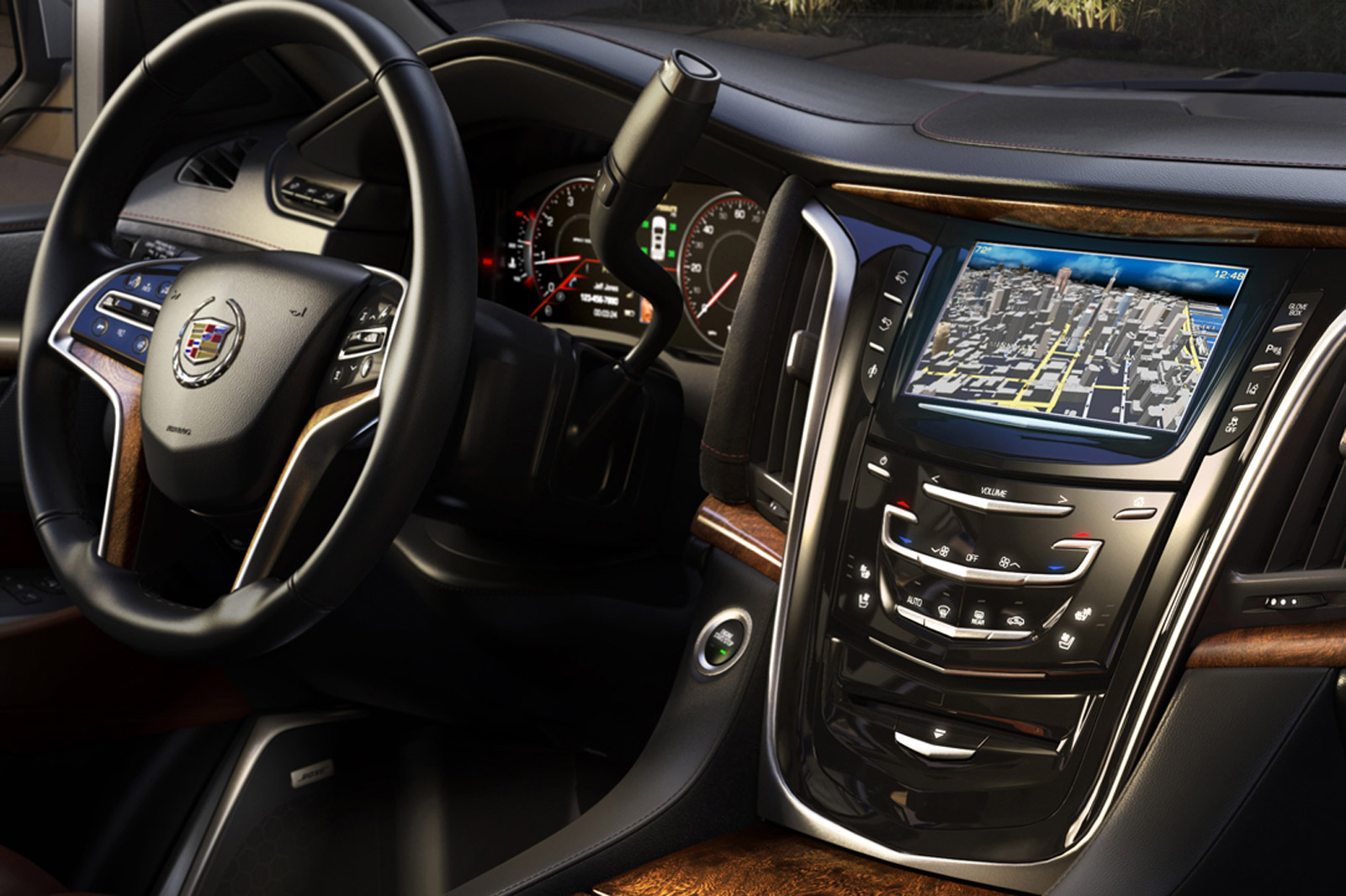2015 cadillac escalade s interior revealed in latest teaser. Black Bedroom Furniture Sets. Home Design Ideas