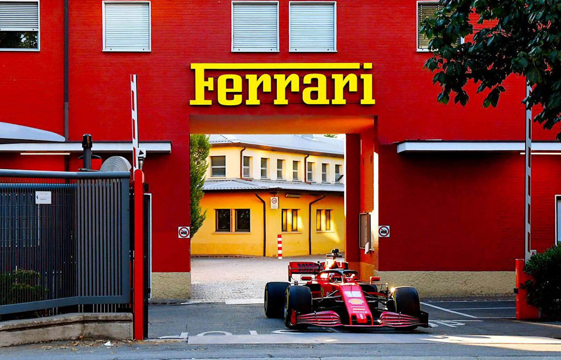 Charles Leclerc Drives His 2020 Ferrari F1 Car Through The Streets Of Maranello