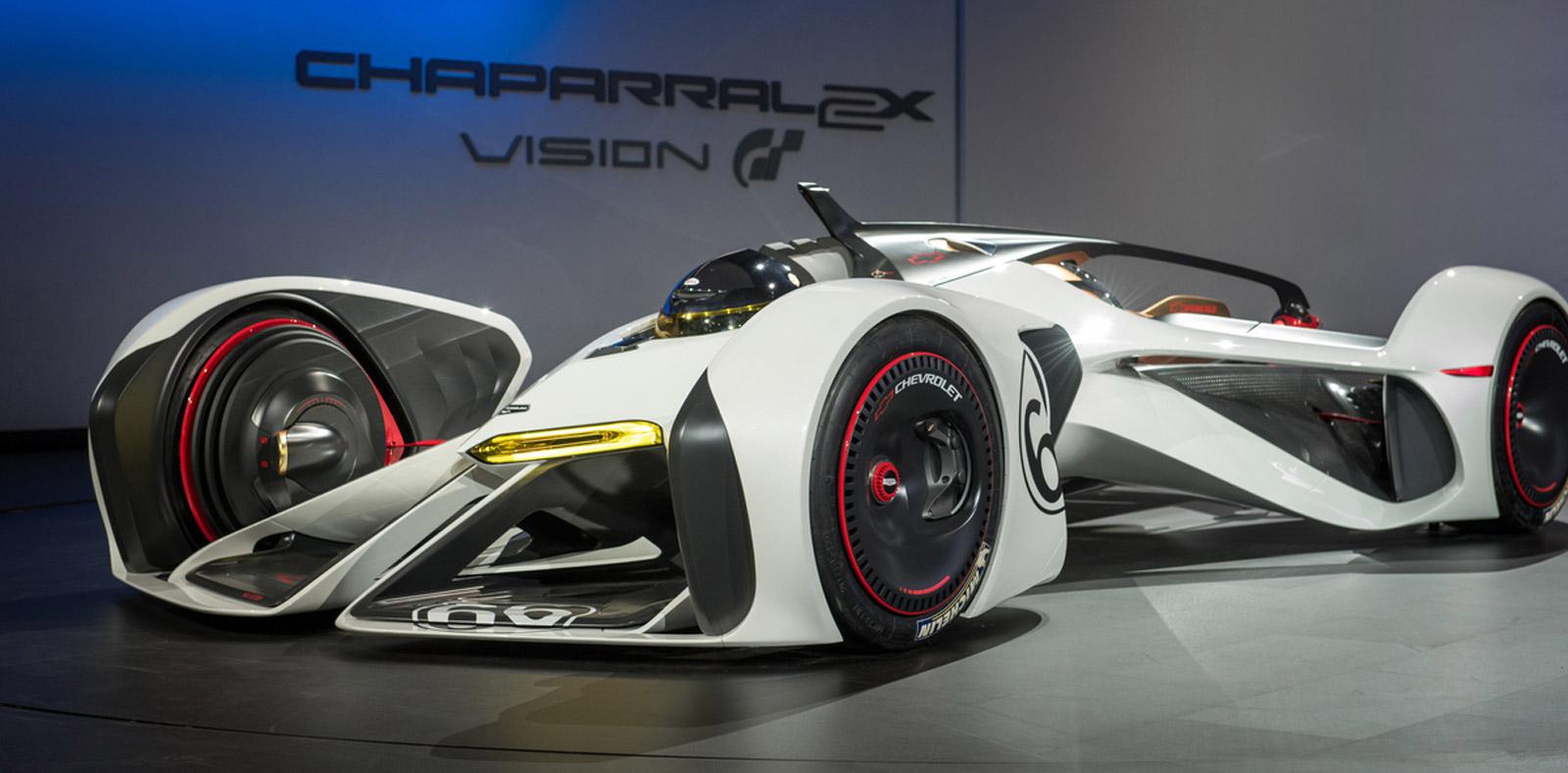 Chevy Chaparral 2x Vision Gran Turismo Concept Makes Its L