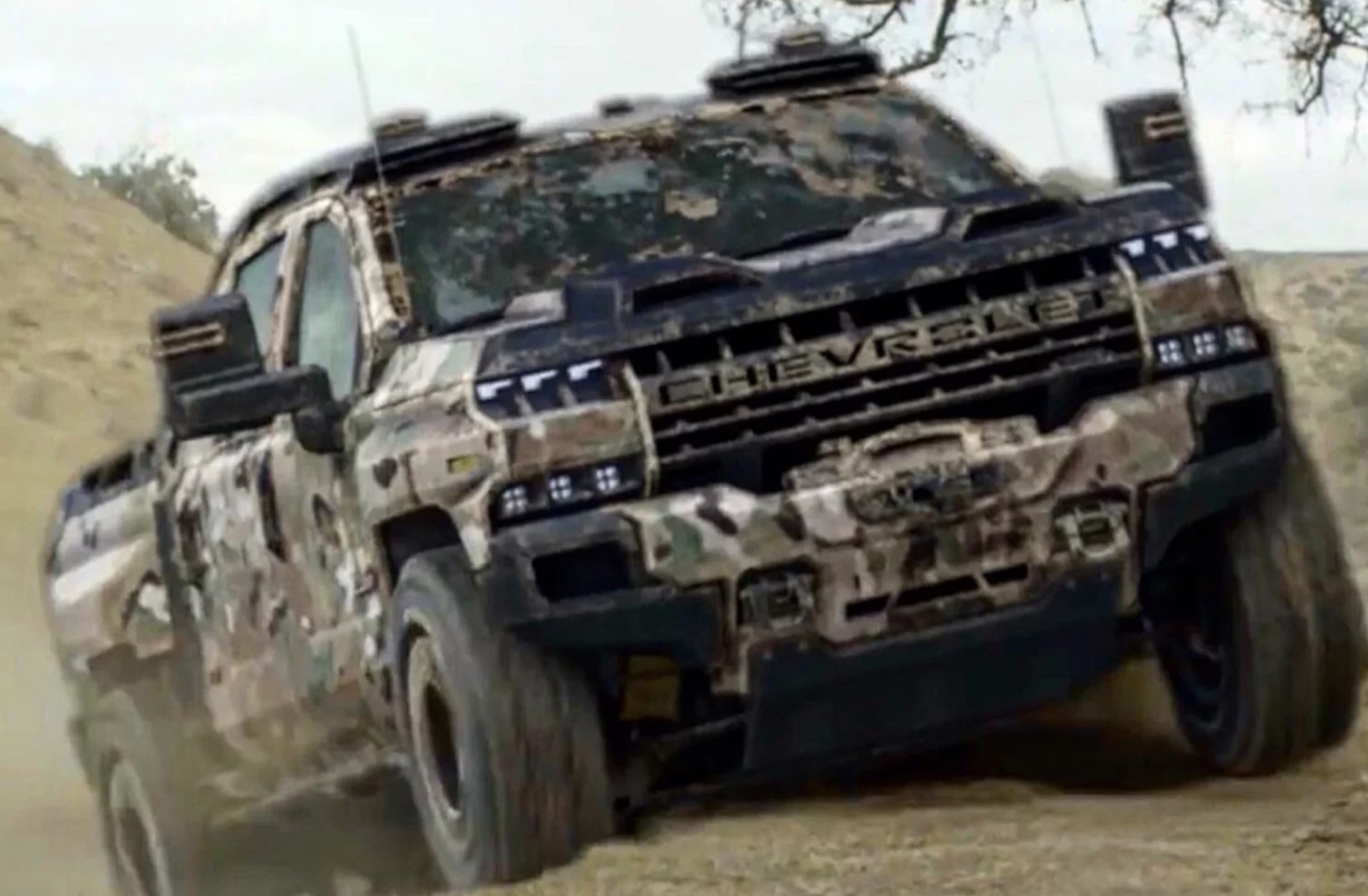 Chevrolet Silverado ZH2 concept surfaces via GM Defense