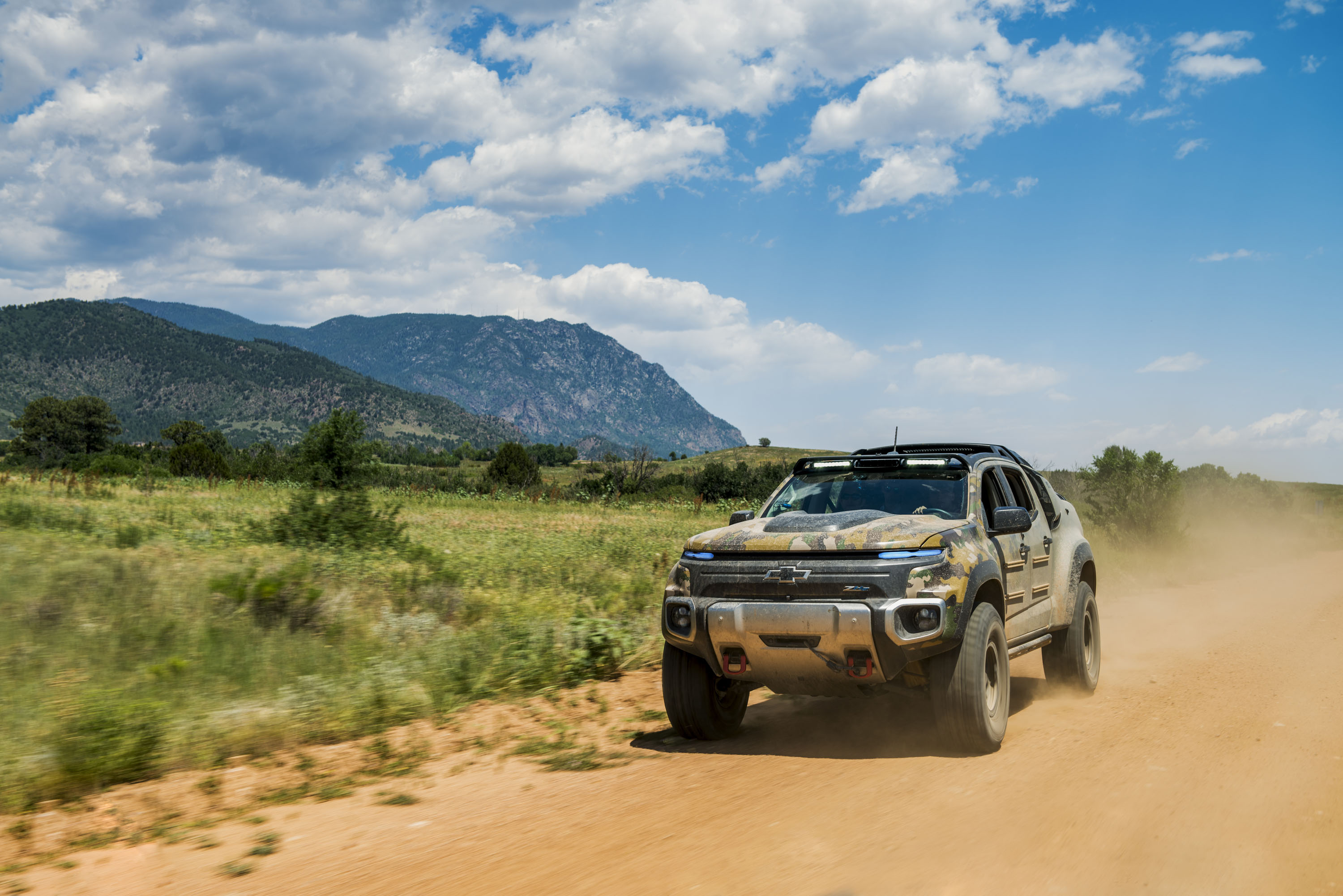 Riding silently in the US Army's Chevy Colorado ZH2 hydrogen fuel cell truck