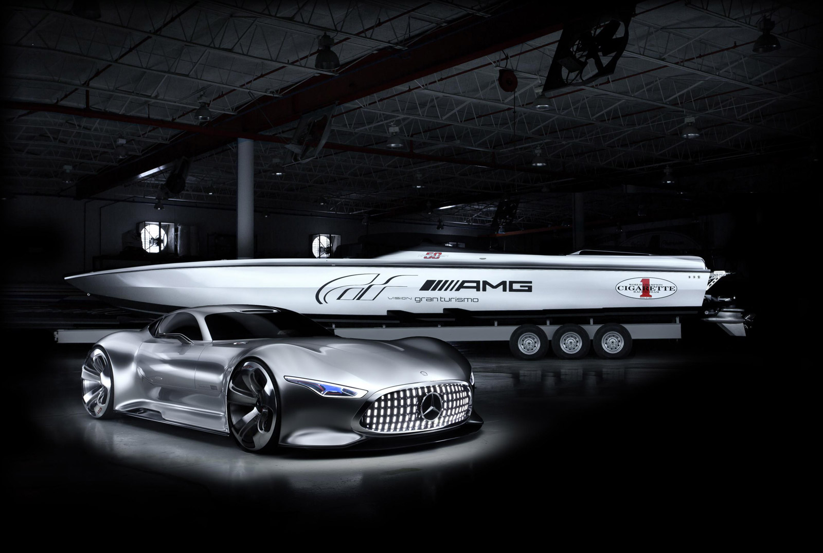 Meet Cigarette Racing's New Speed Boat Inspired By The Mercedes AMG Vision GT