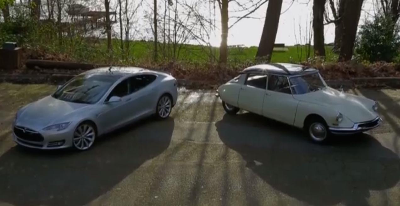 Tesla Model S Vs Citroen DS: Futuristic Car Of 50 Years Ago (Video)