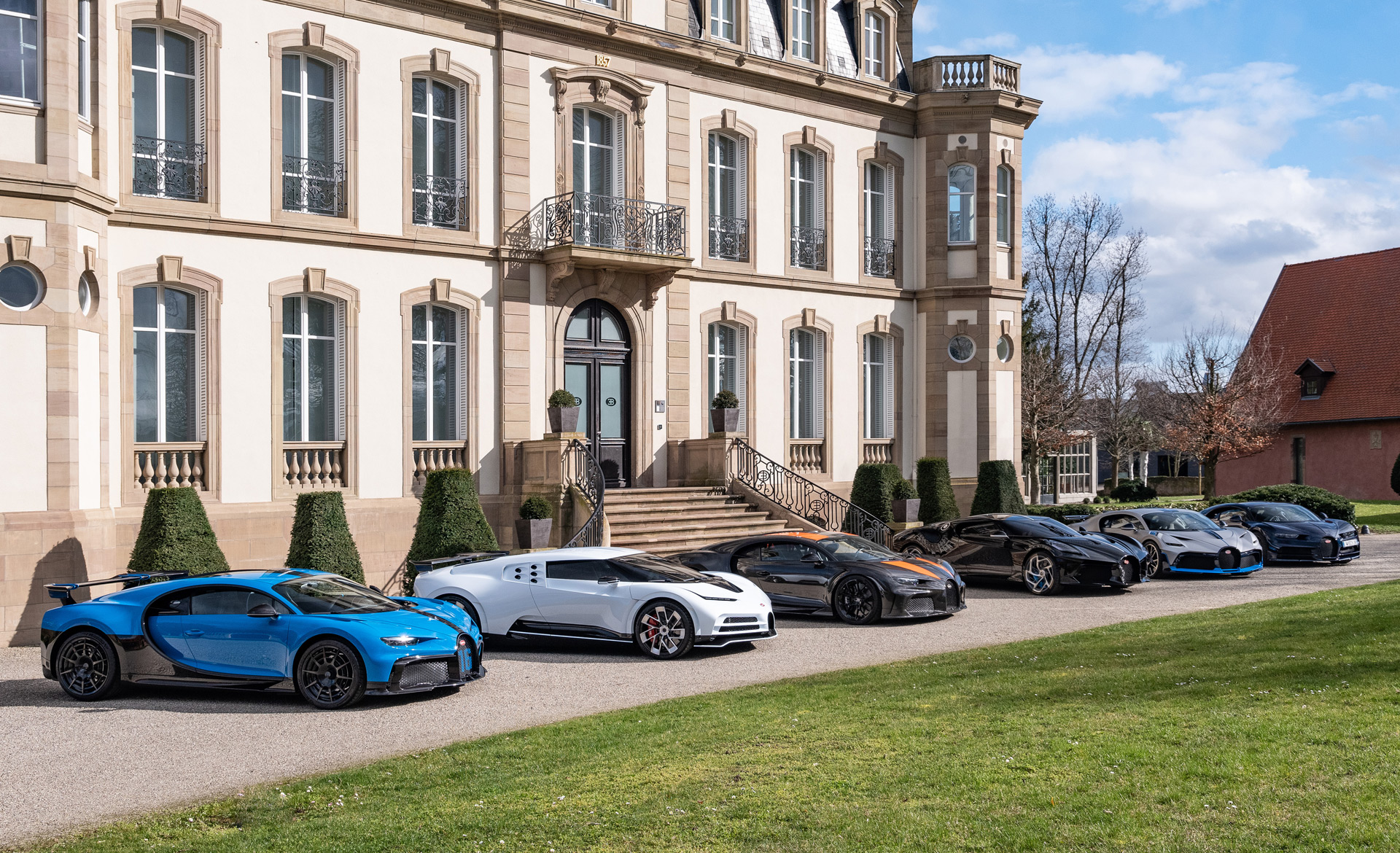collection of rare bugattis at automakers headquarters in molsheim france 100740480 h.