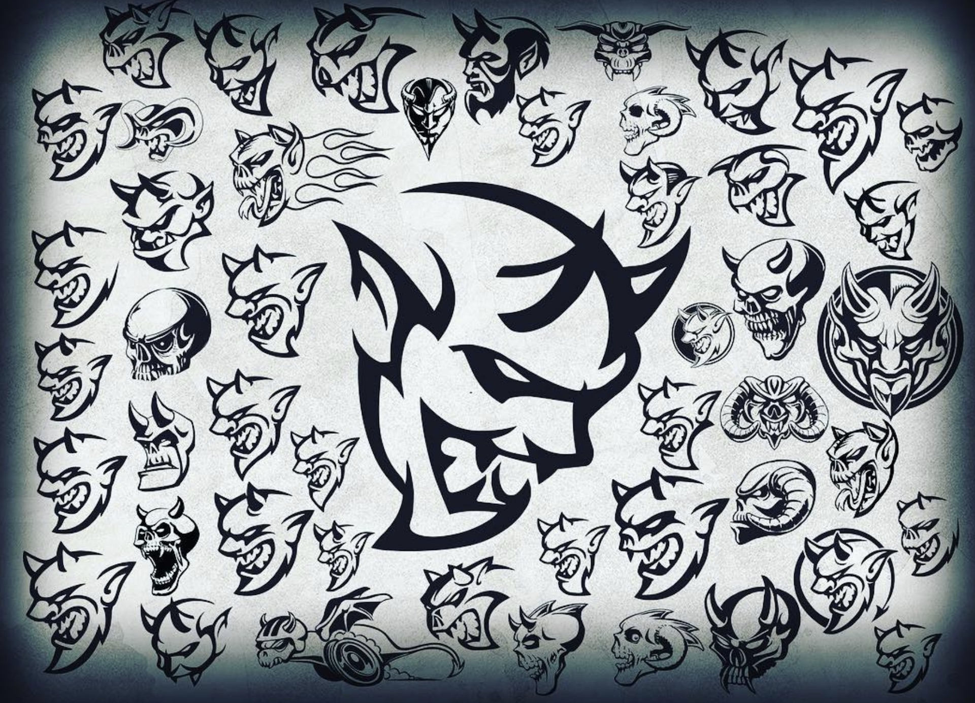 Demonic Drawings Dodge Shows Concept Sketches For Demon Logo
