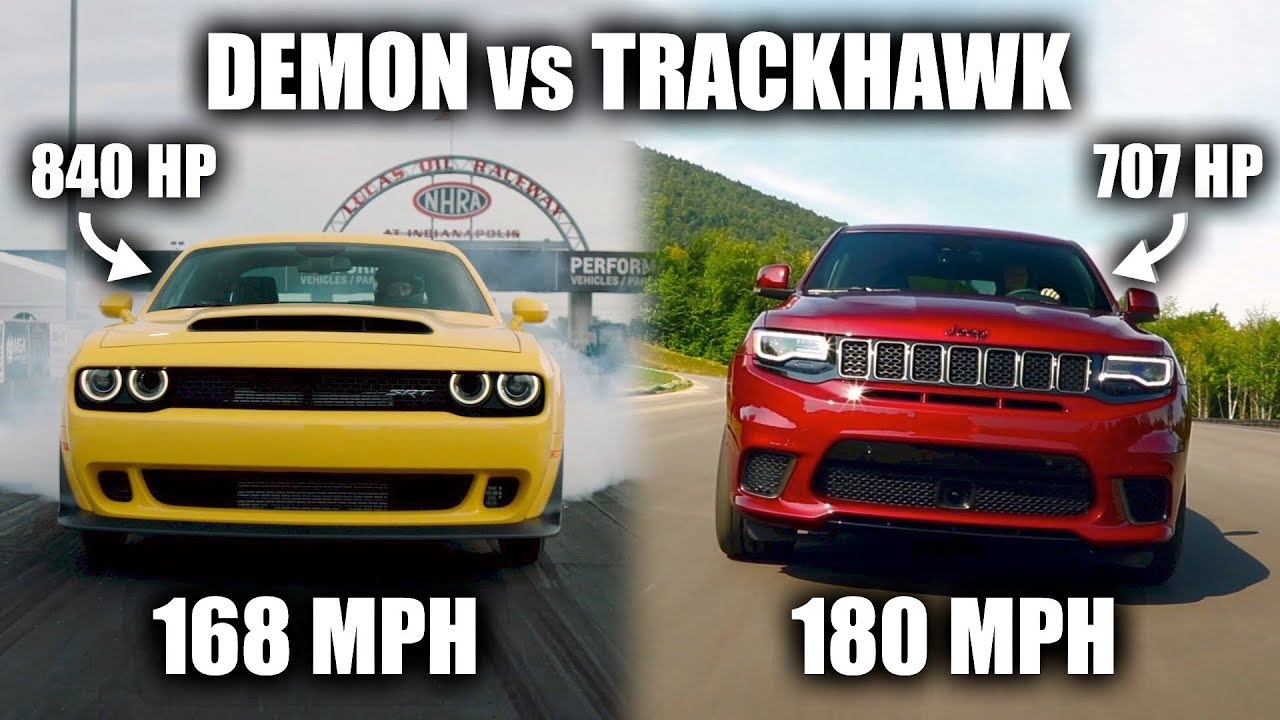 why is the jeep grand cherokee trackhawk faster than the dodge demon. Black Bedroom Furniture Sets. Home Design Ideas