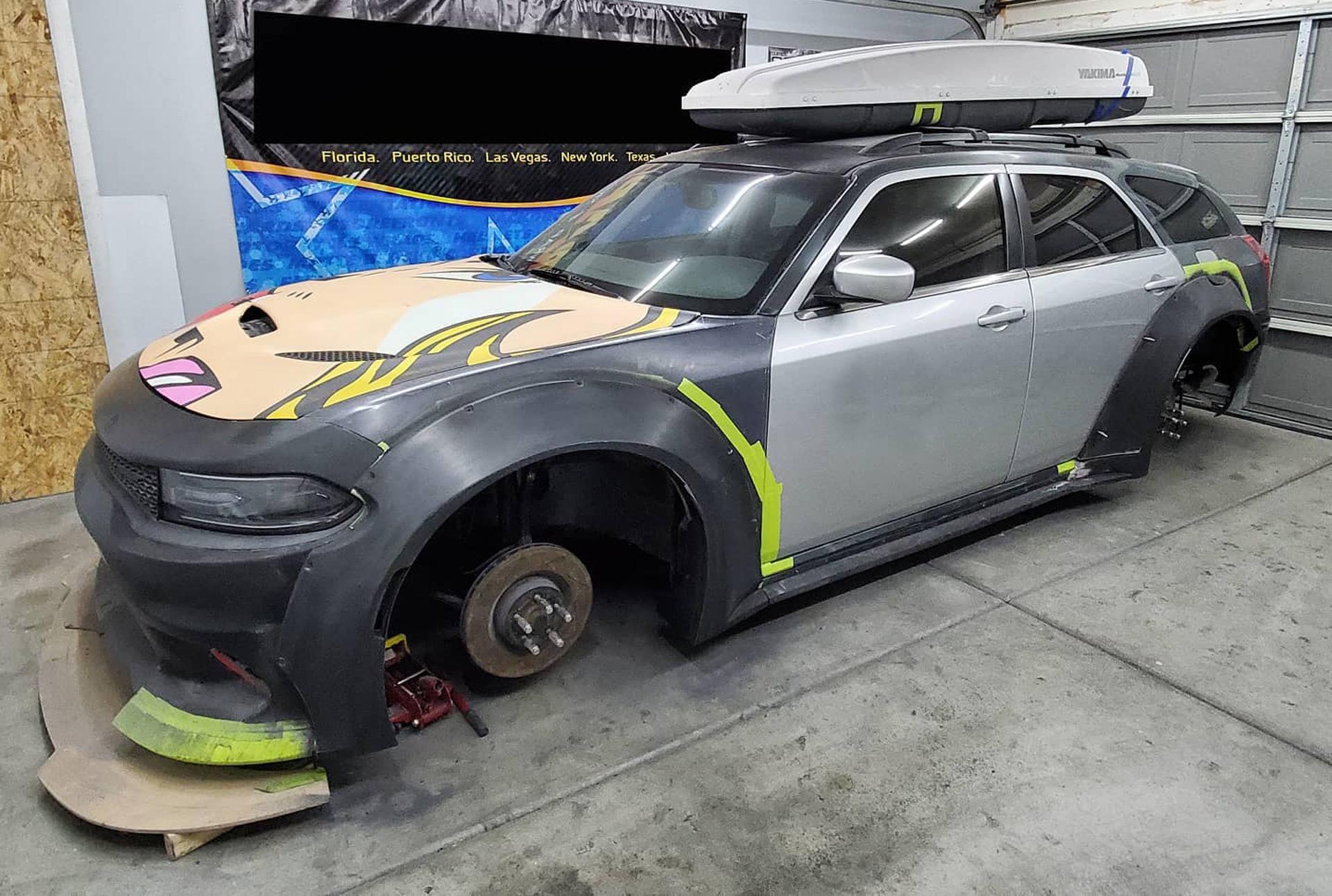 Tuning firm plans modern Dodge Magnum SRT Hellcat Widebody