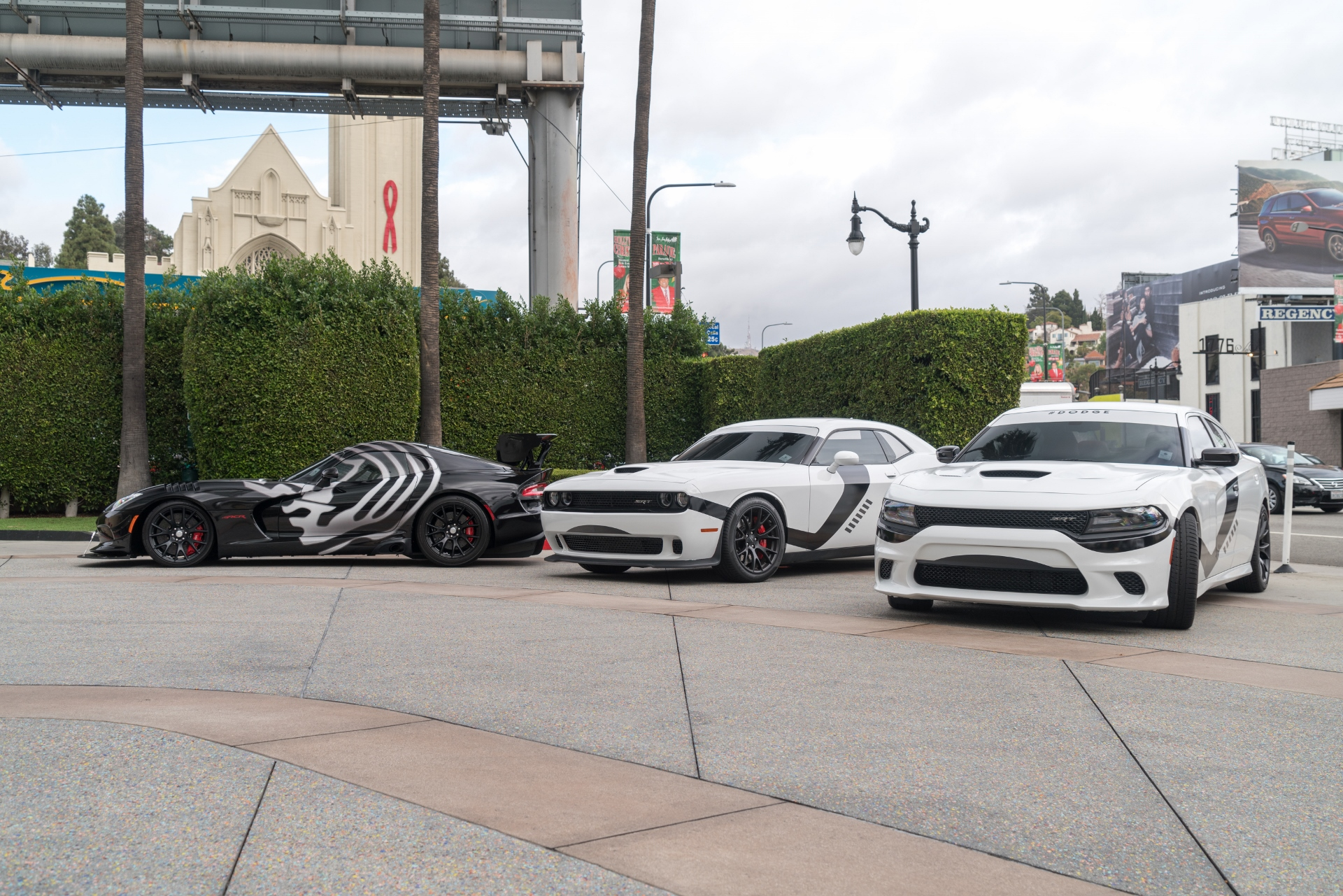 Dodge Star Wars Cars Invade Los Angeles For 'Star Wars: The Force Awakens' Premier