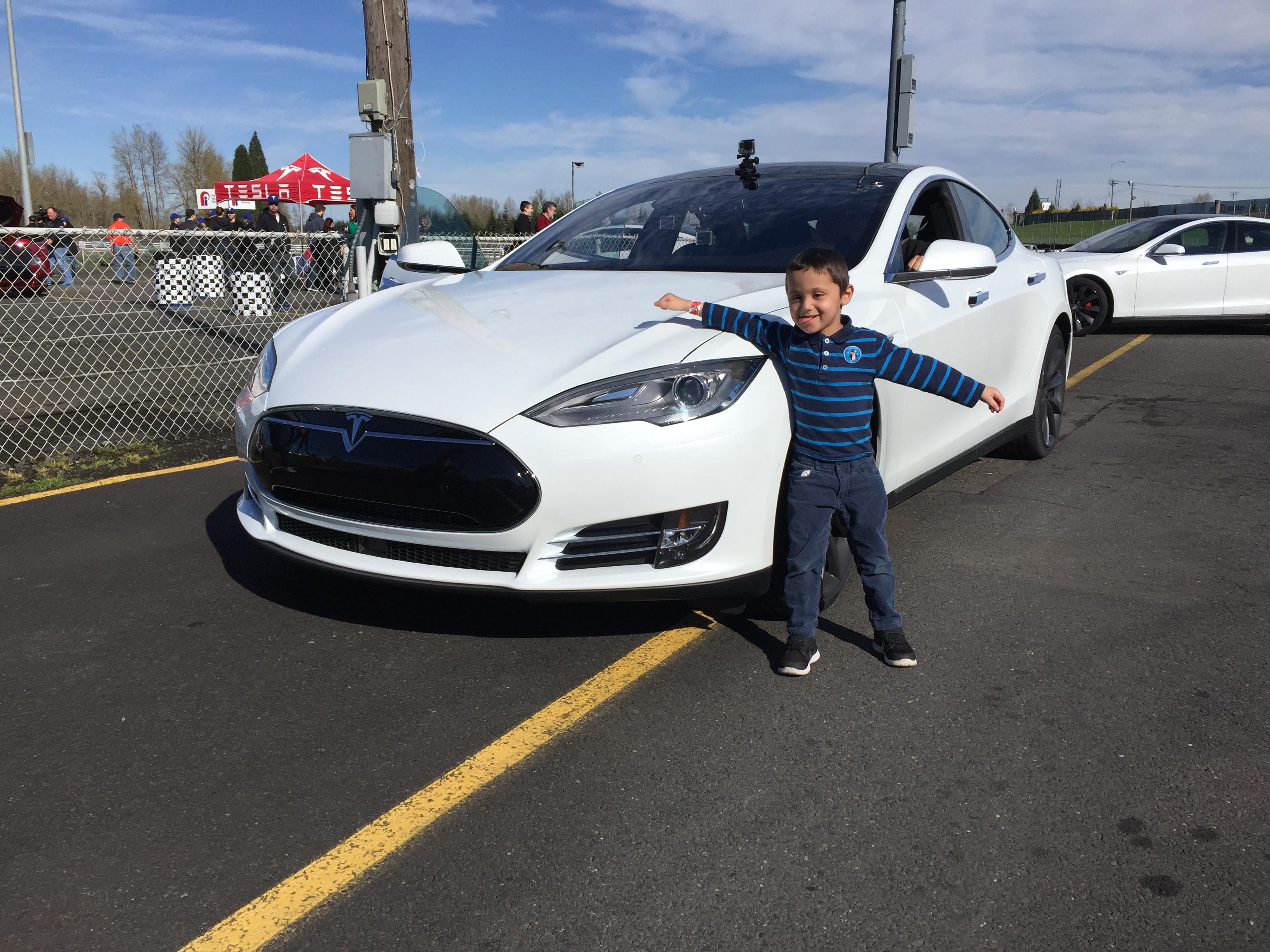 Kids React To Tesla Model S P85d Insane Mode Launch Video Shows