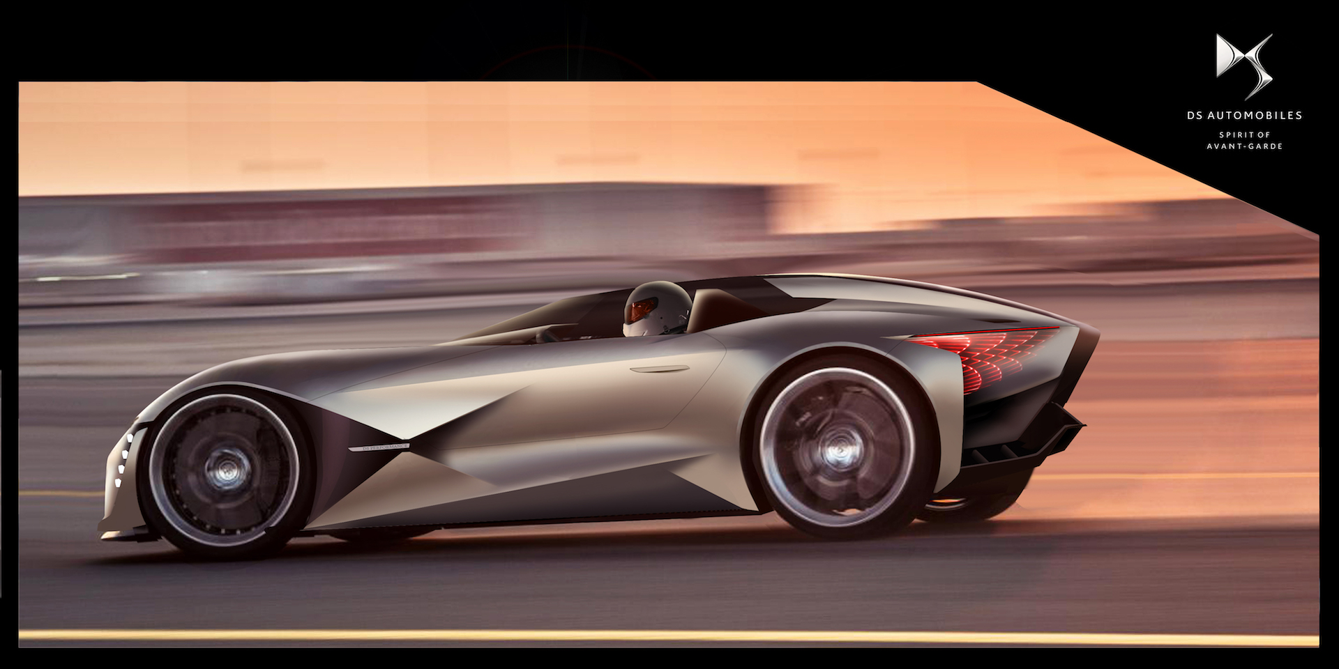 ds   tense   futuristic supercar  formula  engineering