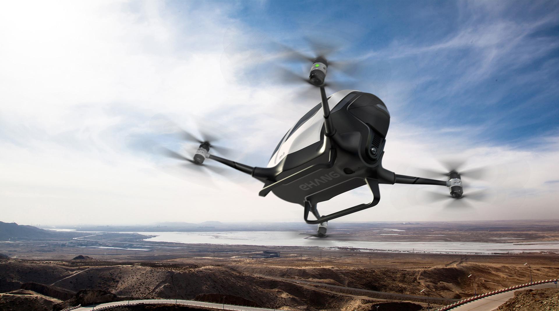 China S Ehang Unveils Autonomous Passenger Drone Video