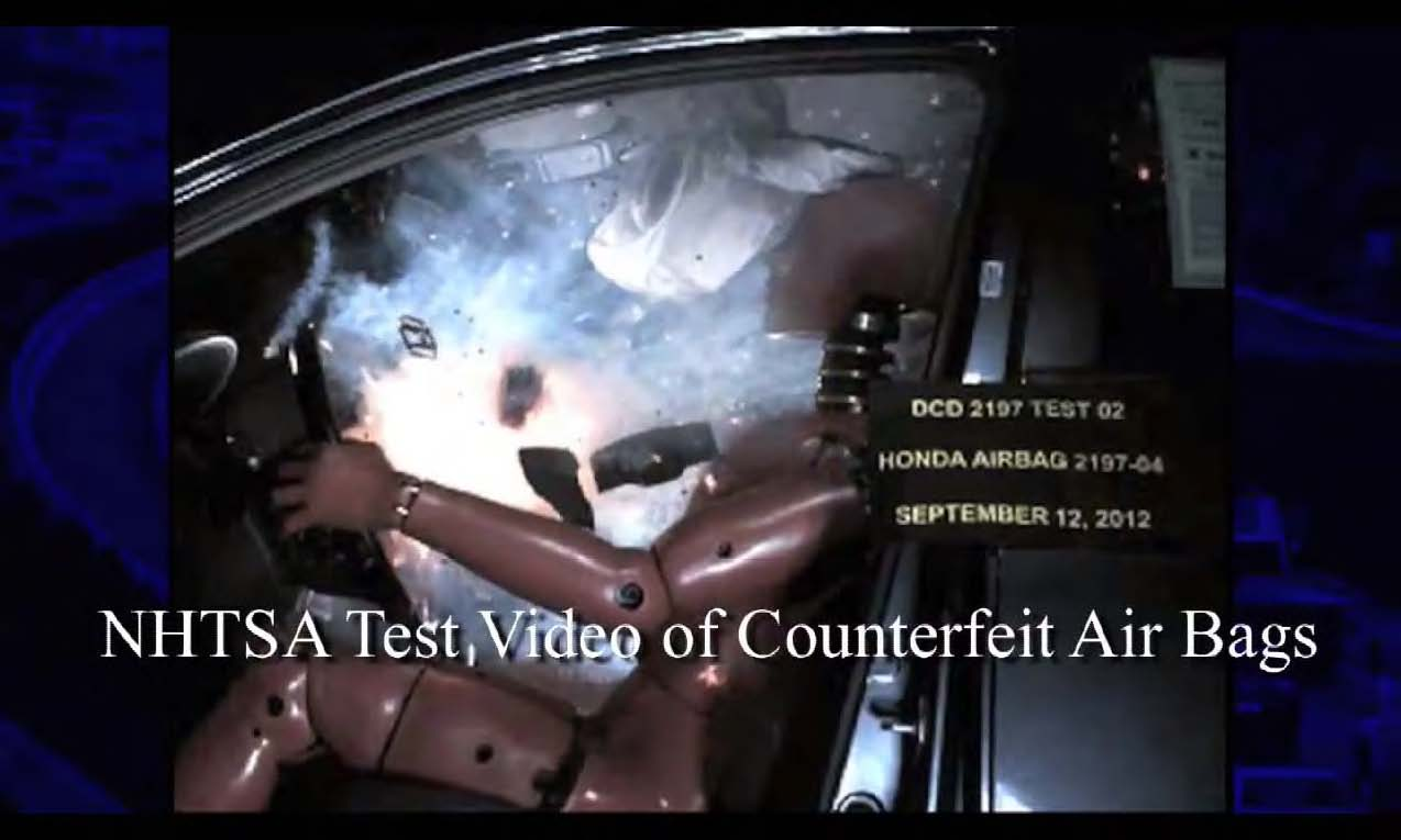 Counterfeit Mercedes Benz Airbags
