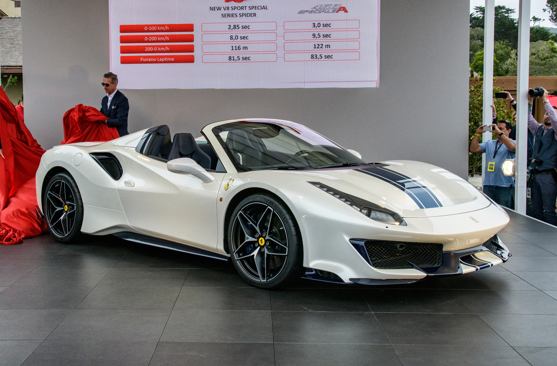 Ferrari 488 Pista Drops Its Top At Pebble Beach Concours