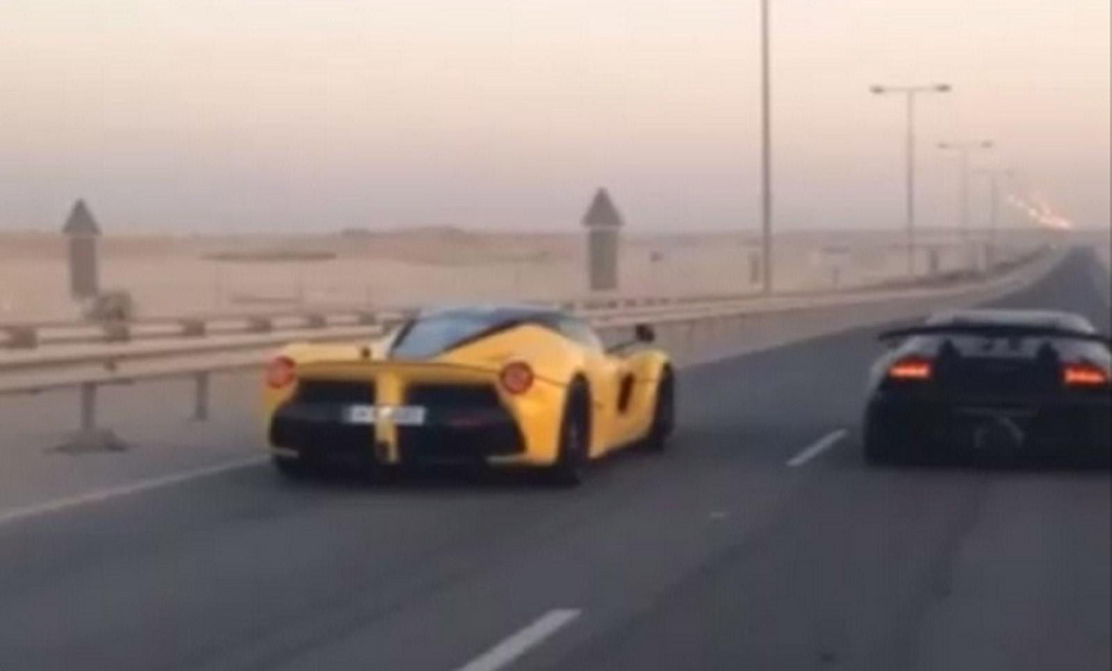 Lamborghini Sesto Elemento Drag Races LaFerrari: Video