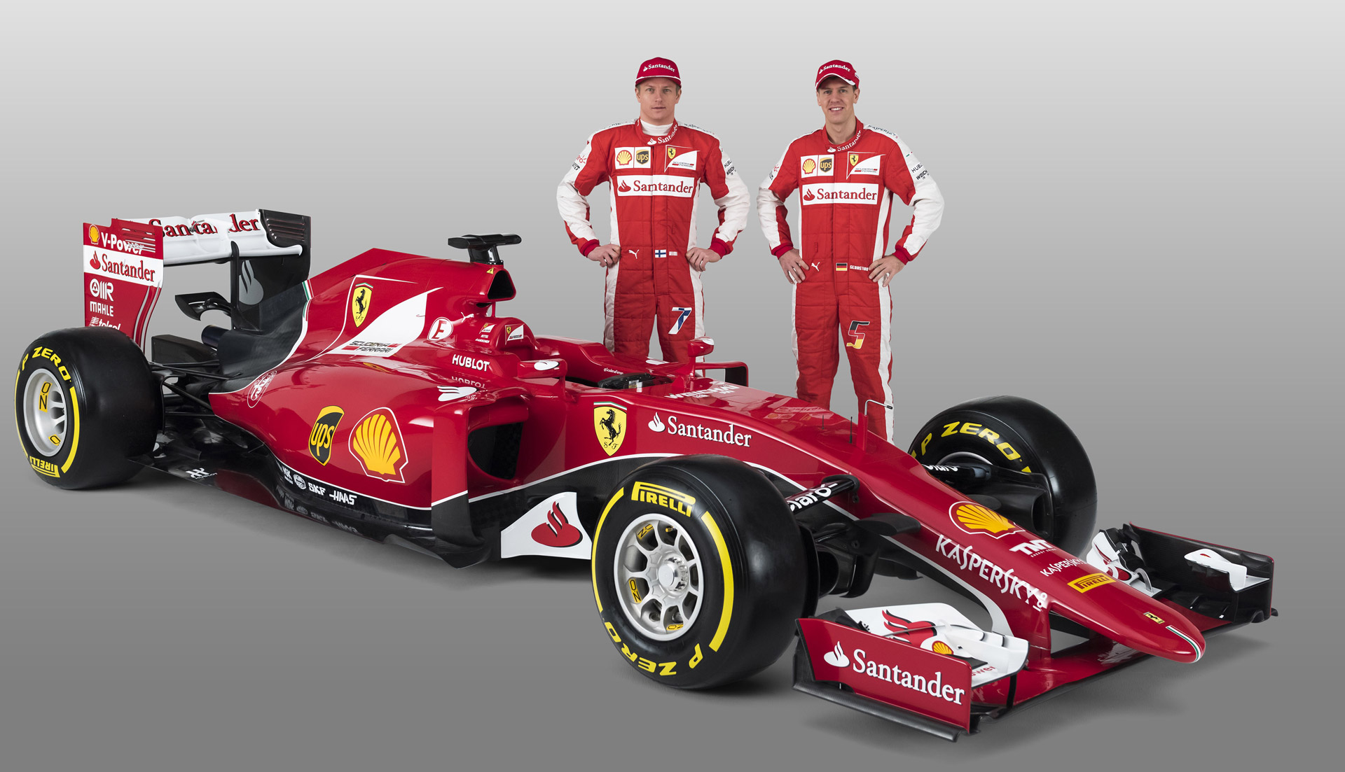 vettel and r ikk nen help launch ferrari s 2015 formula one car video. Black Bedroom Furniture Sets. Home Design Ideas