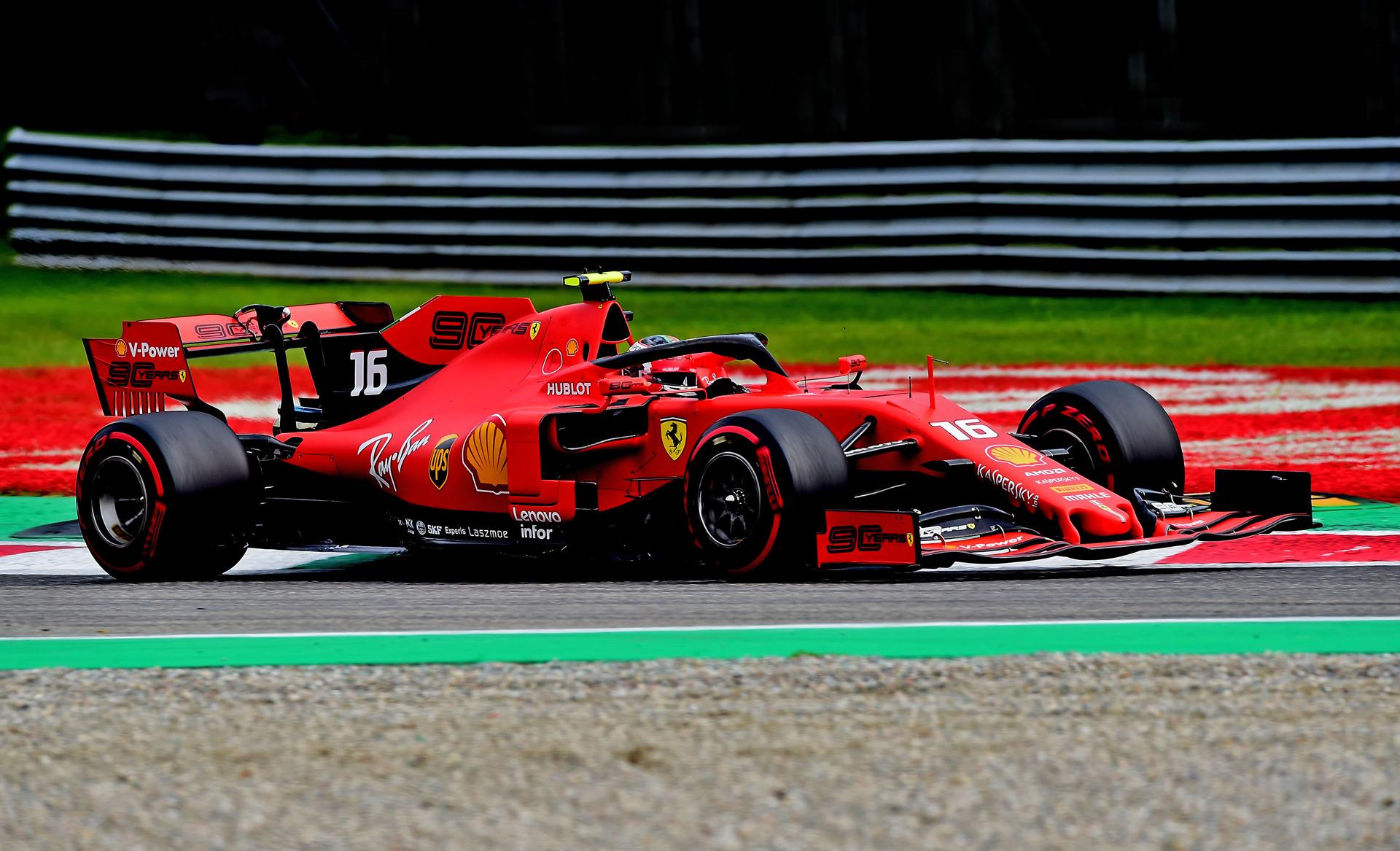 ferrari u0026 39 s leclerc wows home crowd at 2019 formula one italian grand prix