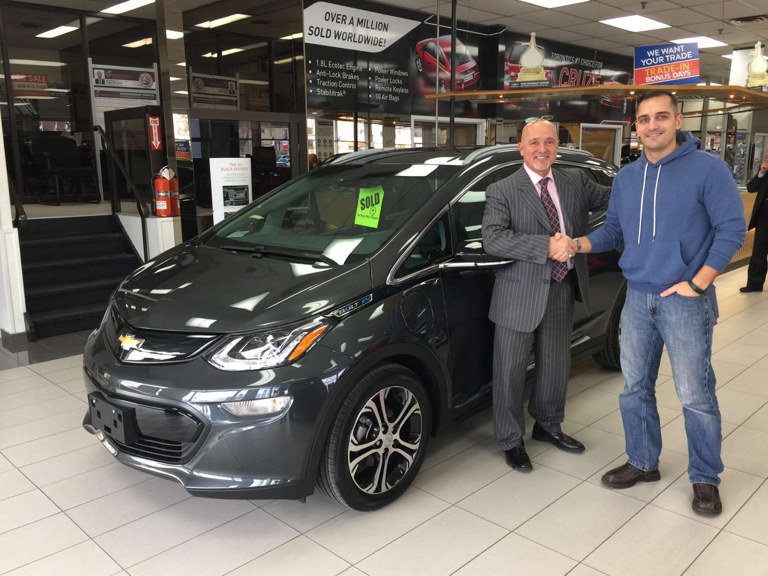 First Chevy Bolt EV electric car delivered to Canadian buyer