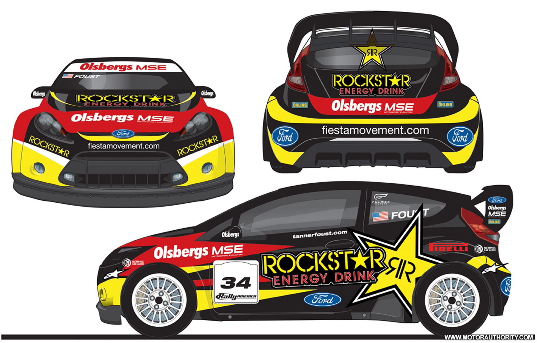 trio of rallyspec ford fiestas to tackle x games