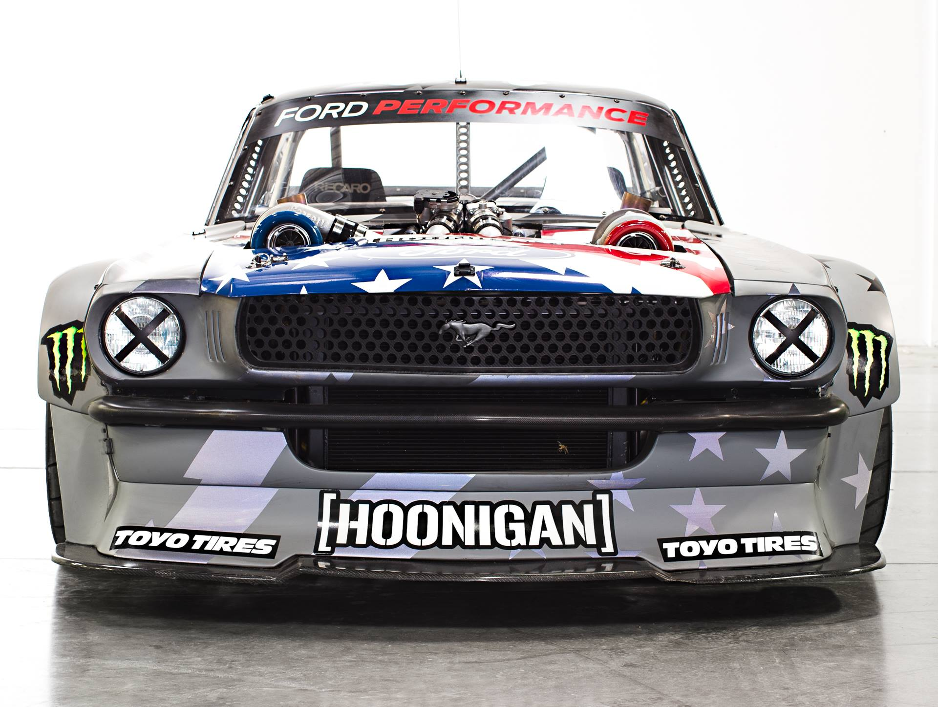 Ken blocks v2 hoonicorn mustang packs 1400 wild horses