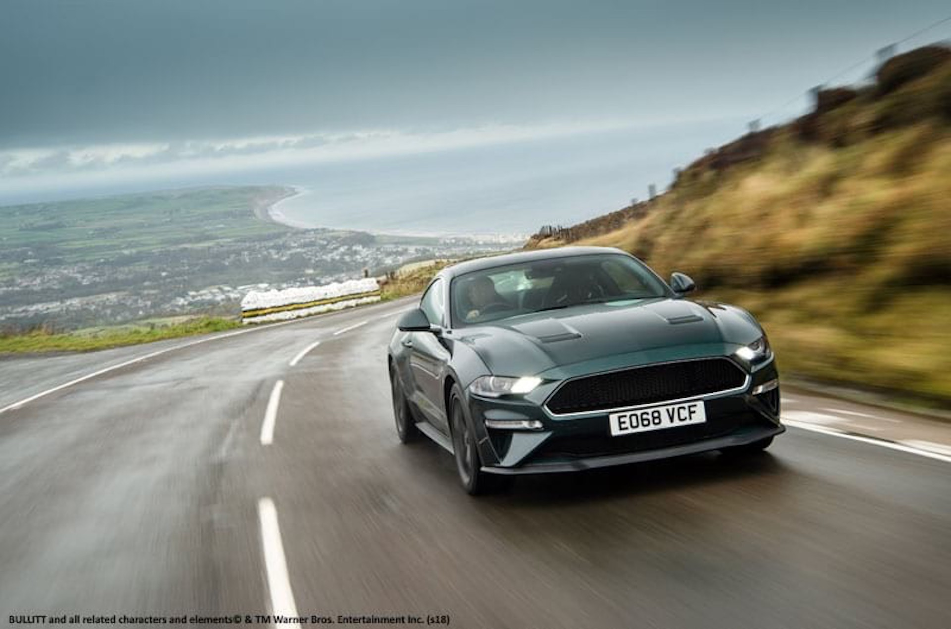 Ford mustang bullitt takes on isle of man