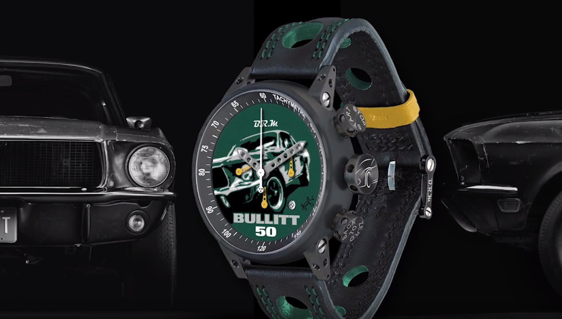 One of a kind watch with paint from original bullitt ford mustang to be raffled for charity