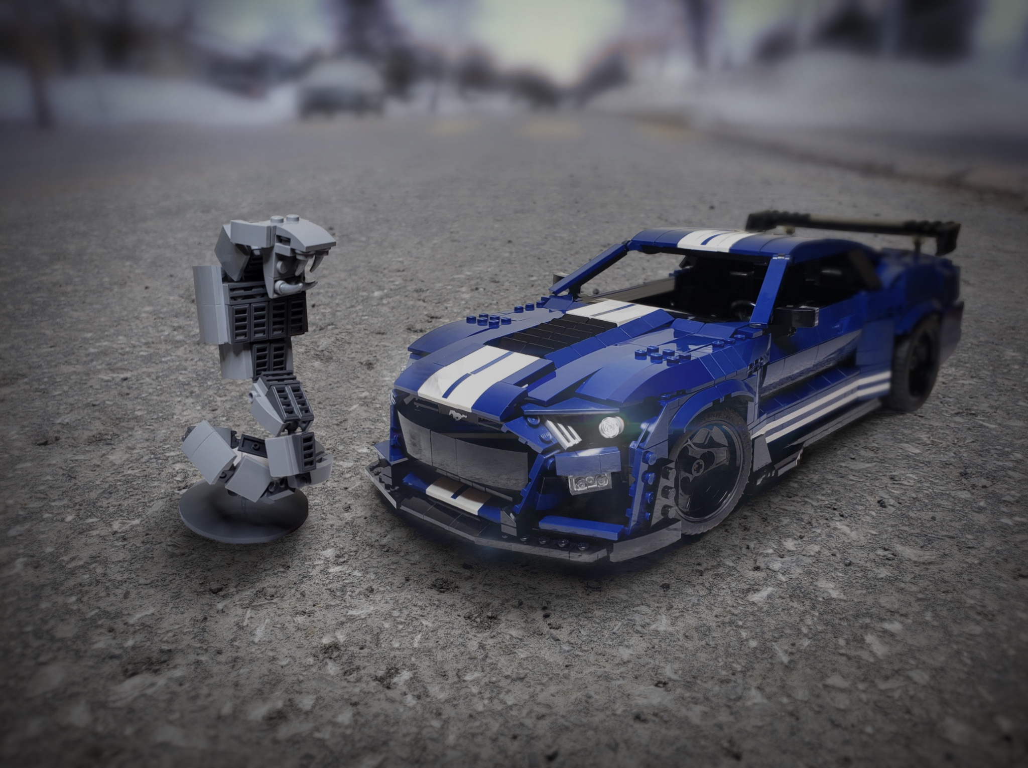 Fan built lego 2020 ford mustang shelby gt500 captures the look of the real deal