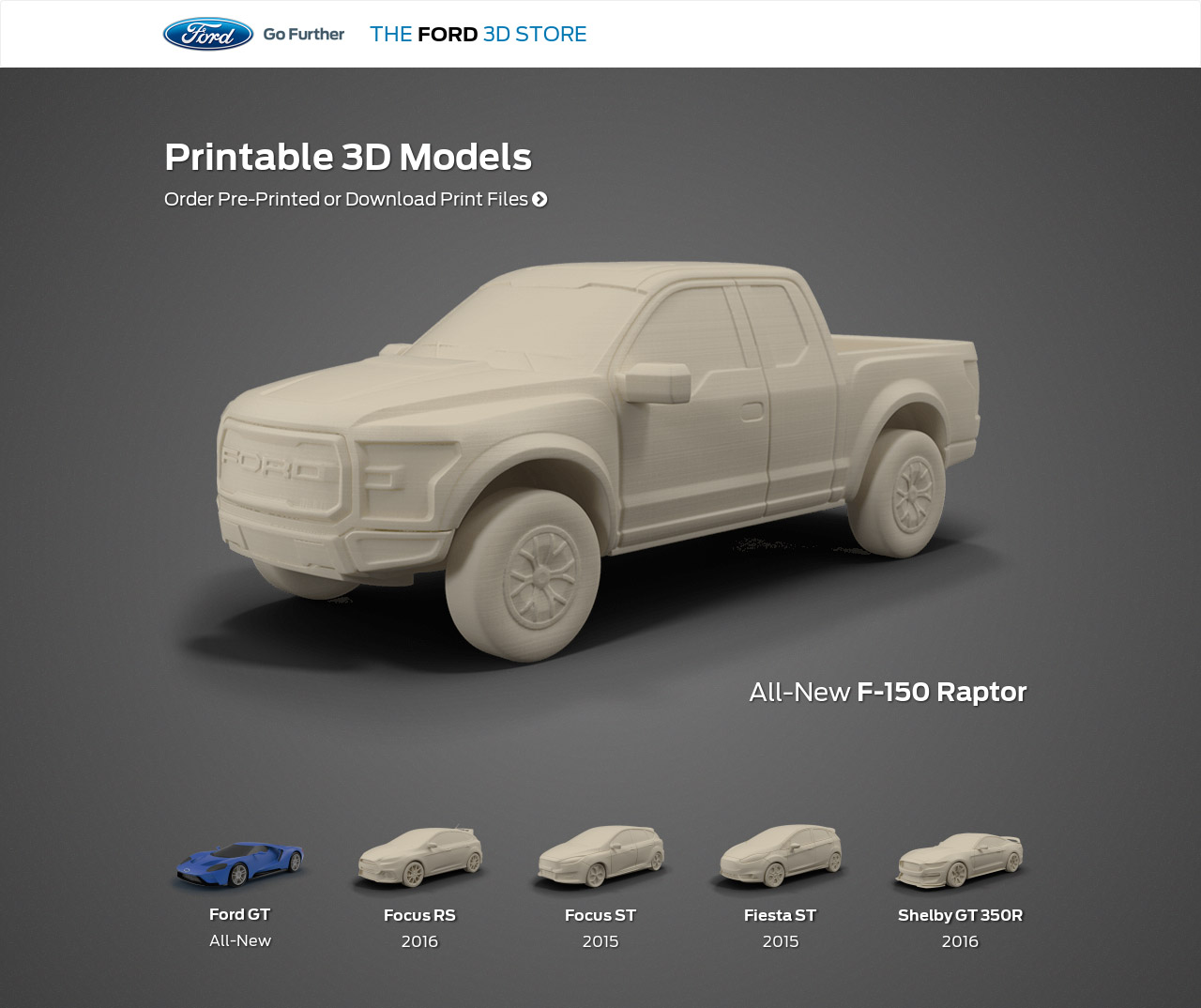 Ford releases four printable 3d vehicle models for download for Mobel 3d download